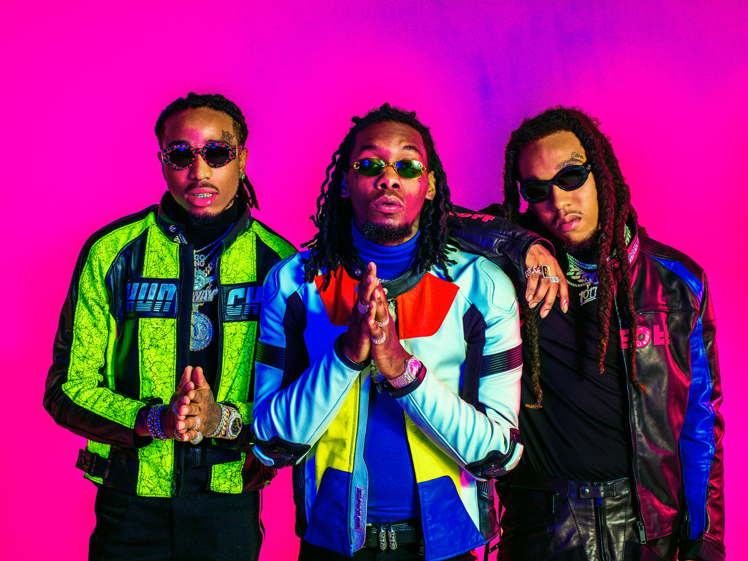 Quavo, Offset and Takeoff, of Atlanta trio Migos, are at the forefront of rap's latest wave