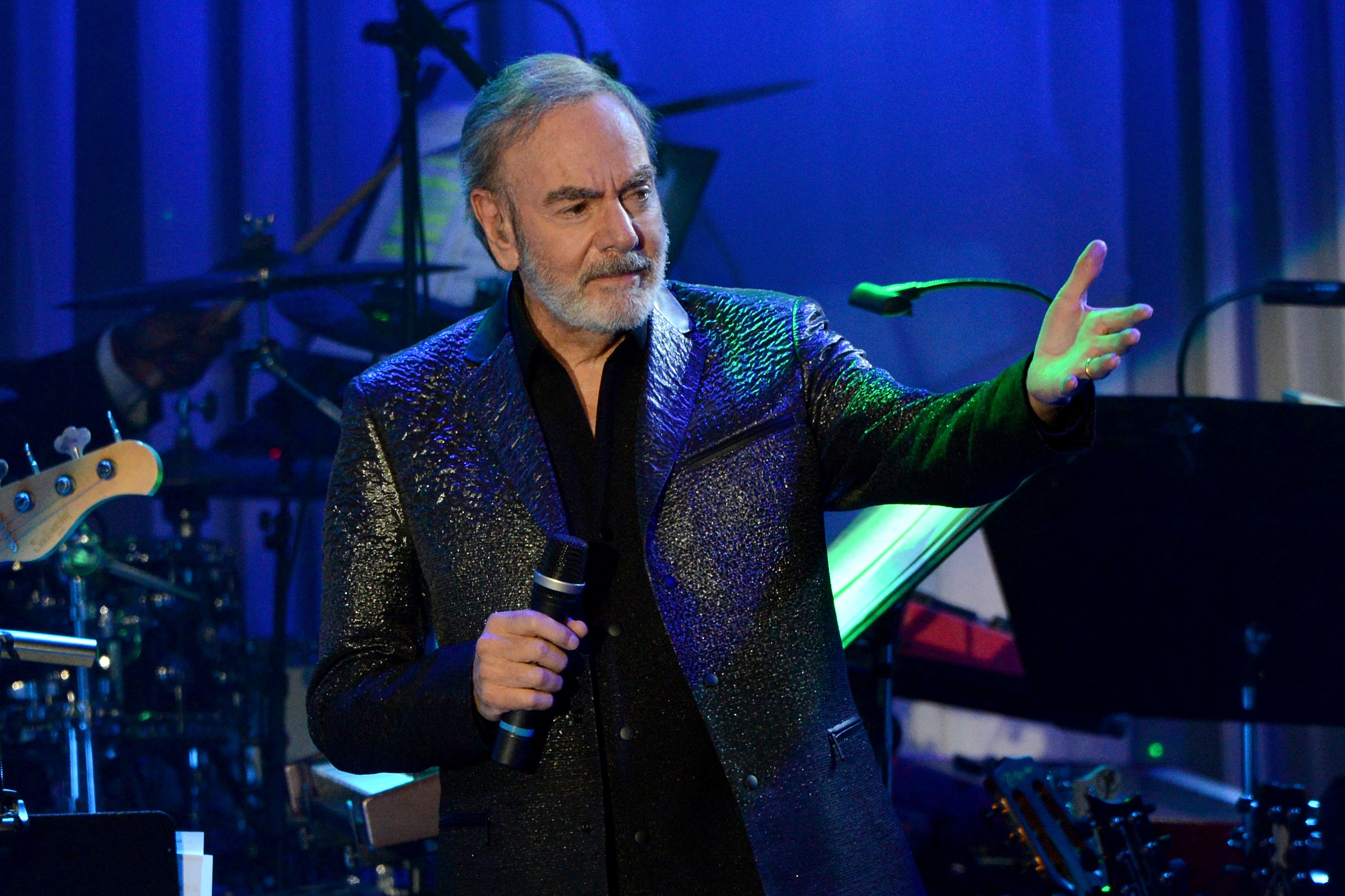 Neil Diamond performs onstage during the 2017 Pre-Grammy Gala and Salute to Industry Icons.