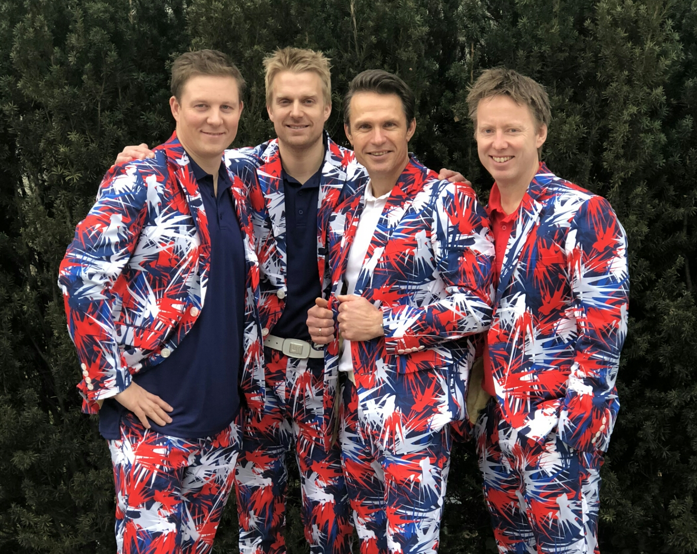 The Norway men's curling team for the 2018 PyeongChang Olympics, from left:                      Christoffer Svae, Haavard Peterson, Thomas Ulsrud, Torger Nergaard