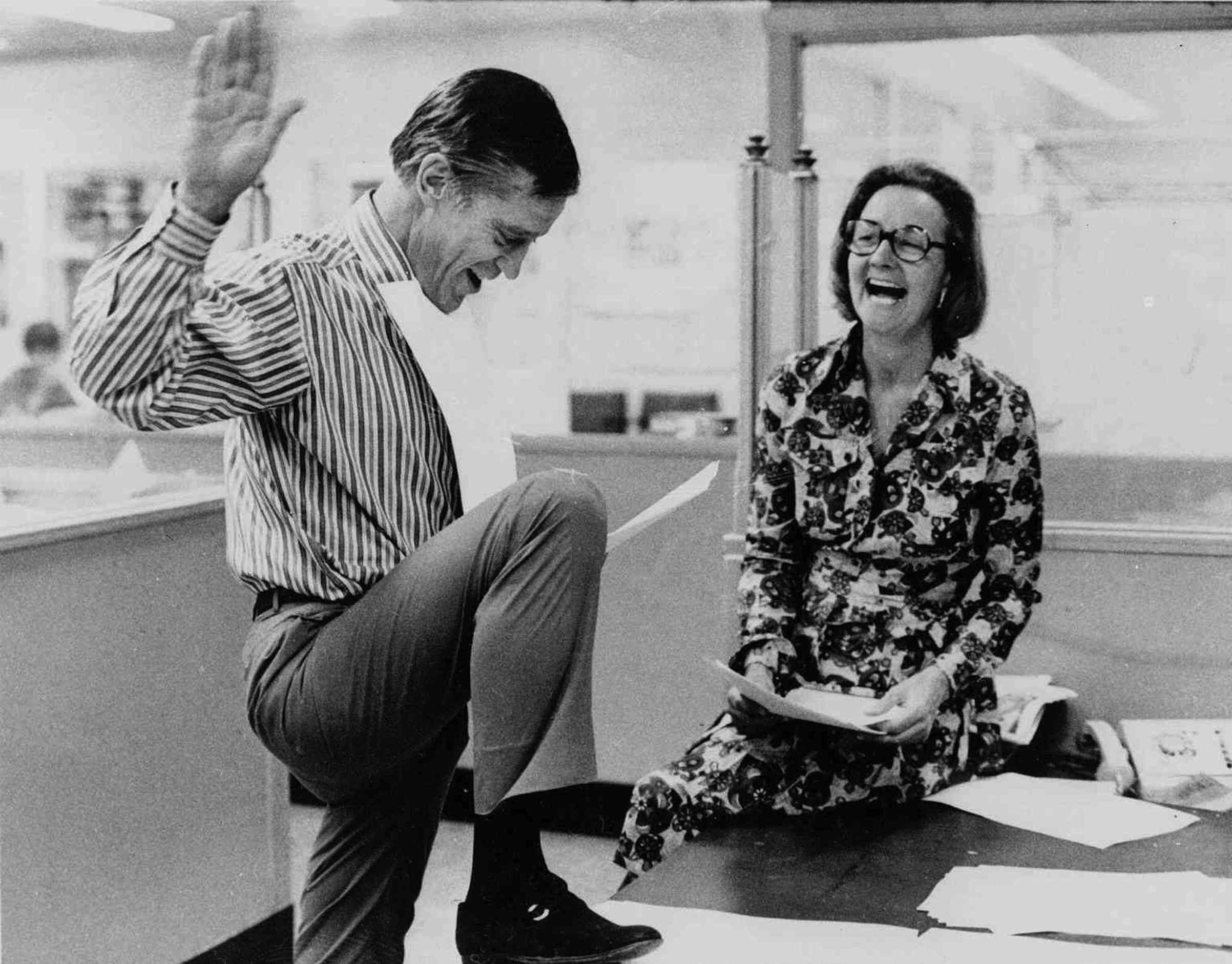 Katharine Graham, publisher of the Washington Post, and Executive Editor Benjamin C. Bradlee look over reports of the 6 to 3 Supreme Court decision which permitted the paper to publish stories based on the secret Pentagon study of the Vietnam War, on June 30, 1971.