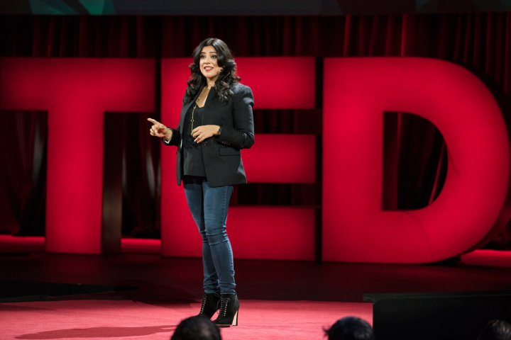Reshma Saujani speaks at TED 2016 in Vancouver on Feb. 16, 2016.