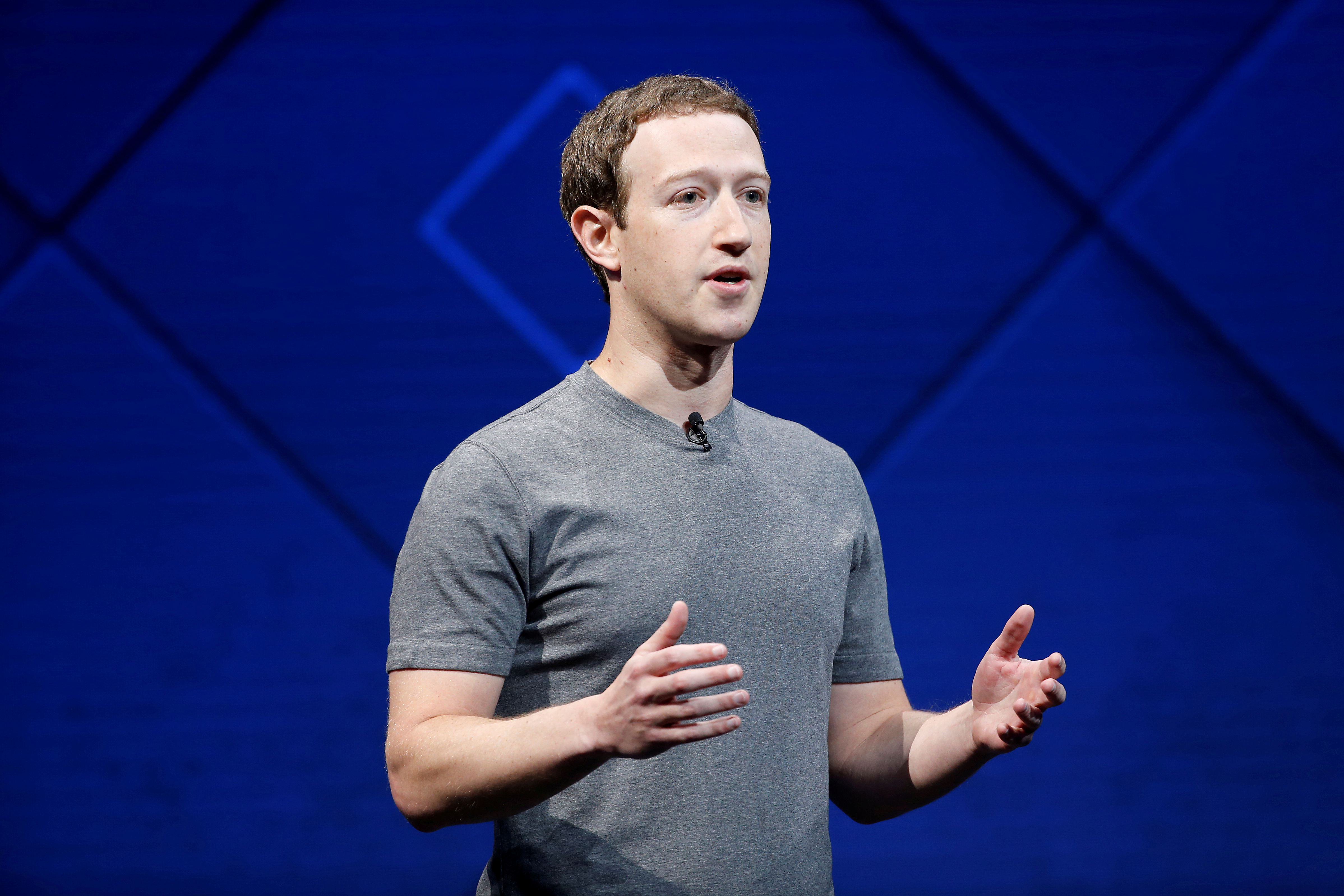 Facebook CEO Mark Zuckerberg at the annual Facebook F8 developers conference in San Jose, Calif. on April 18, 2017.