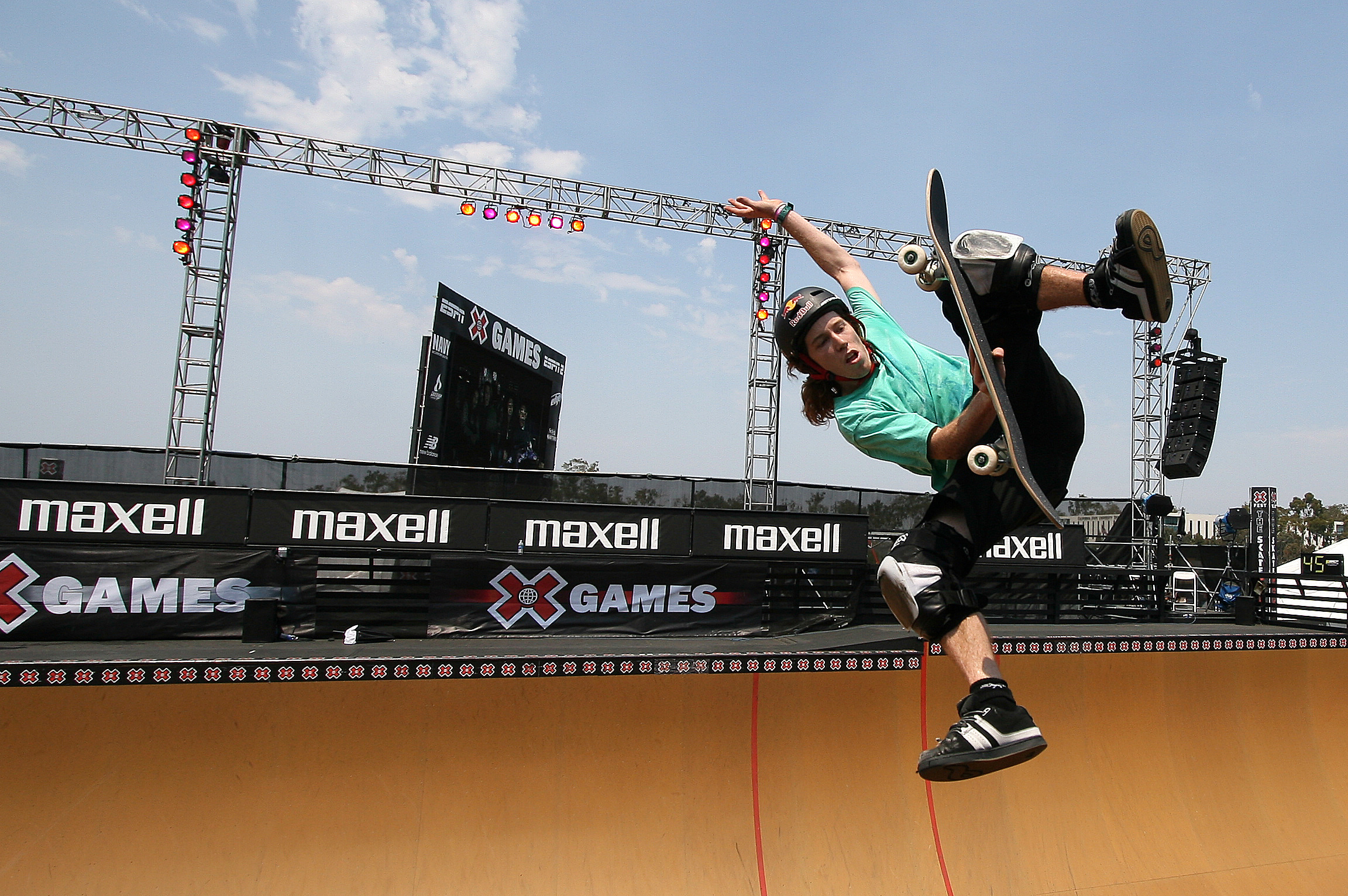 Skate Boarder Shaun White during the skate boarding event at the X games at the Home Depot Center in Los Angeles. Icon Sports Wire—Corbis via Getty Images