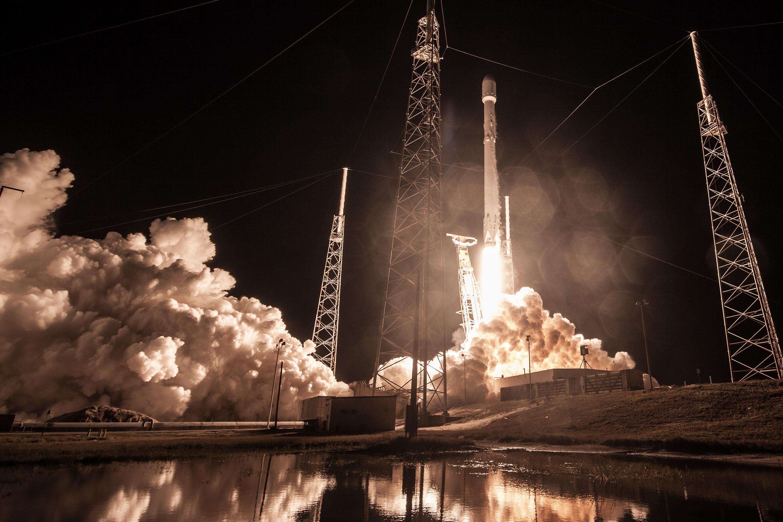 SpaceX Zuma launch on Jan. 7, 2018.