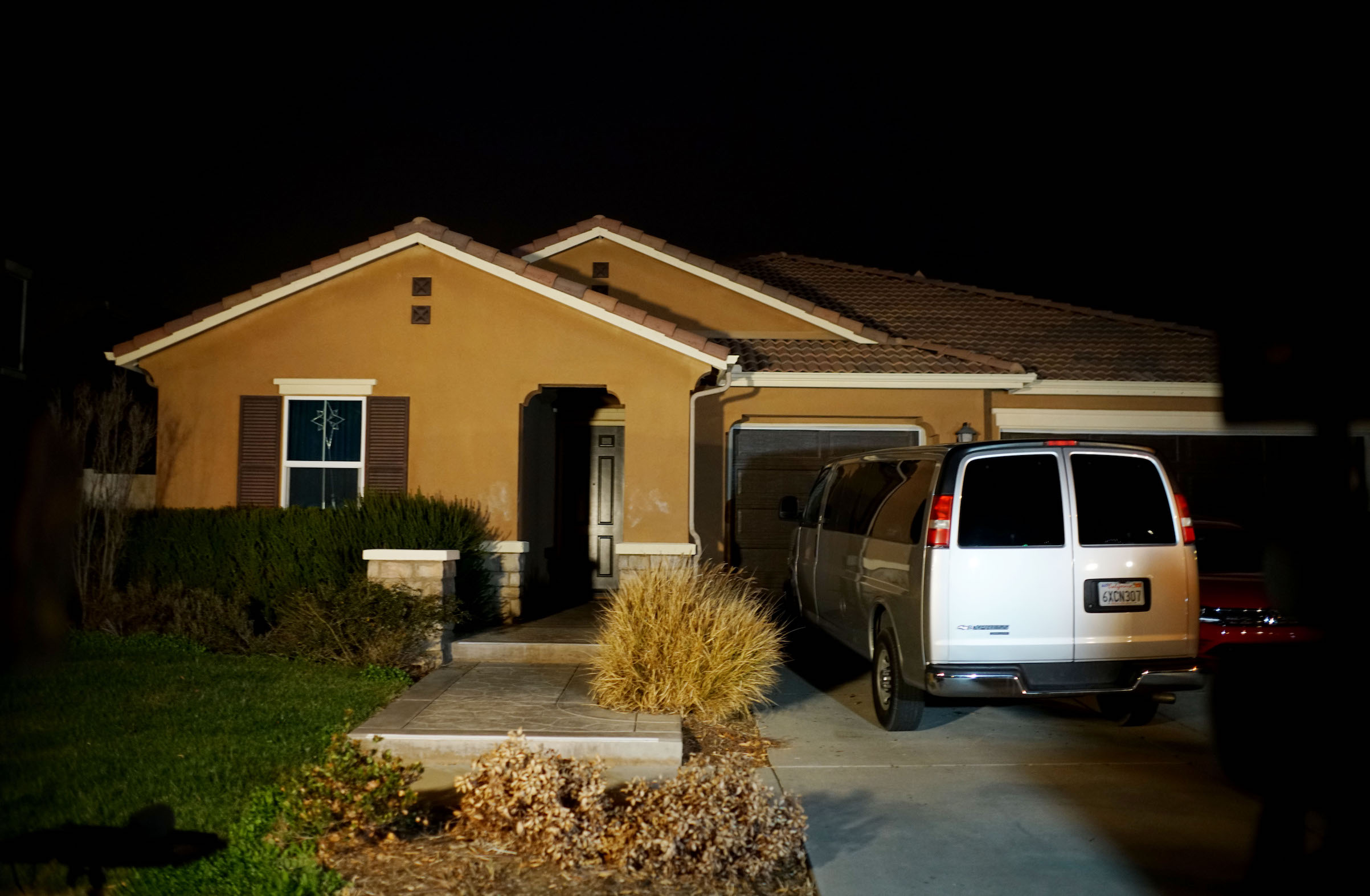 The home where a couple was arrested after police discovered that 13 people had been held captive is shown Jan. 15, 2018 in Perris, California.