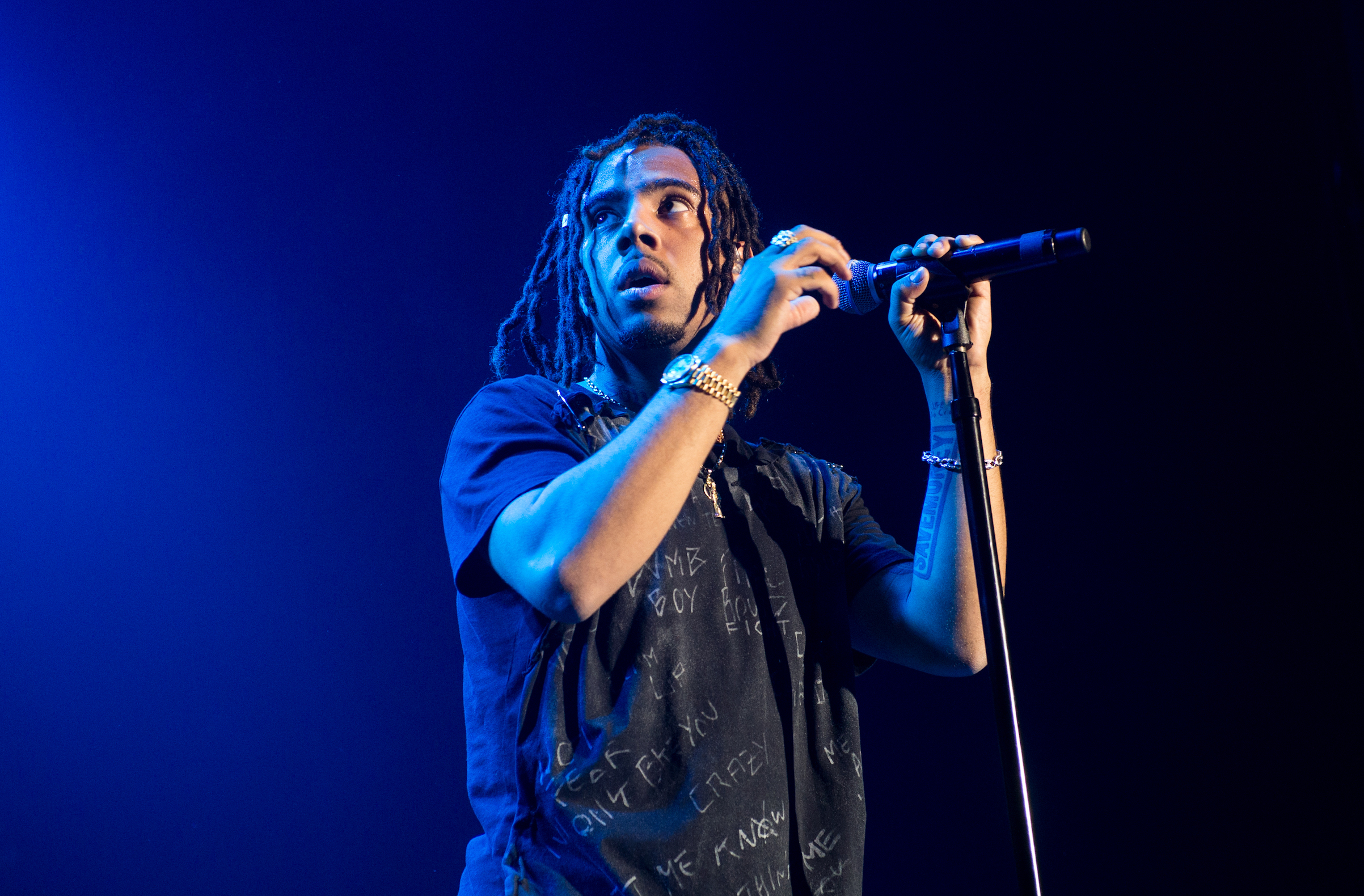 Vic Mensa performs in concert at The Bowery Ballroom on Sept. 30, 2017 in New York City.