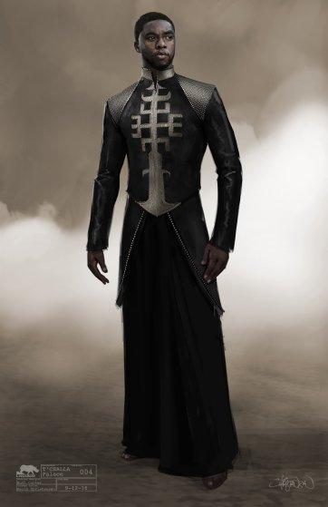 Marvel Studios' BLACK PANTHERT'Challa Conceptual Character and Costume Design SketchCostume Design: Ruth CarterConcept Artist: Keith Christensen©Marvel Studios 2018