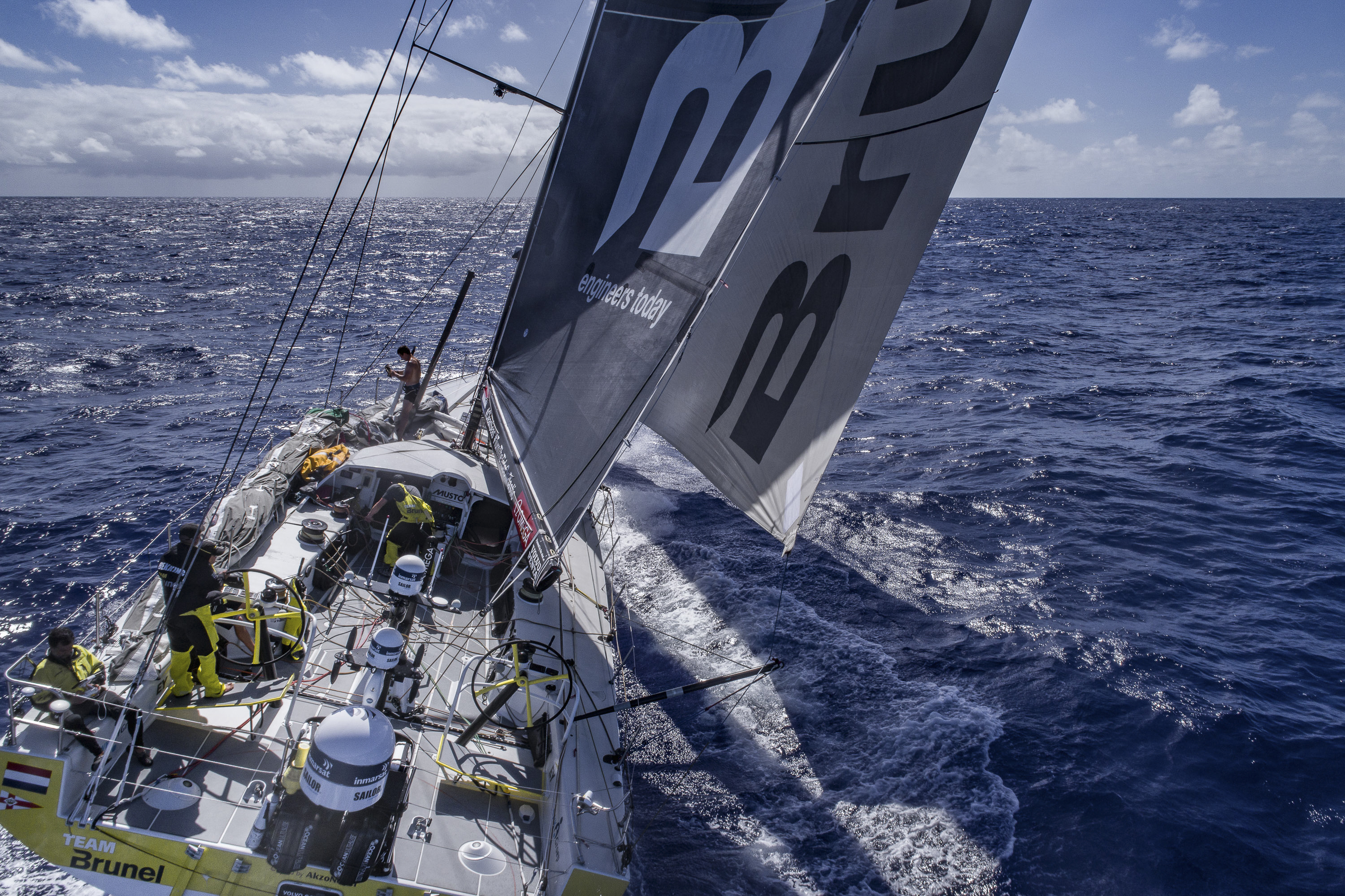 Leg 6 to Auckland, day 7 on board Team Brunel on Feb. 13, 2018.
