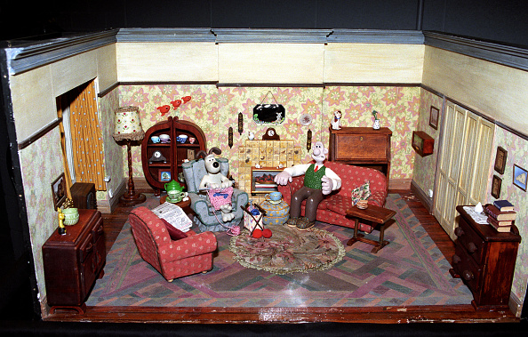 One of the Wallace and Gromit model sets used by Aardman Animation. (Photo by Barry Batchelor - PA Images/PA Images via Getty Images)