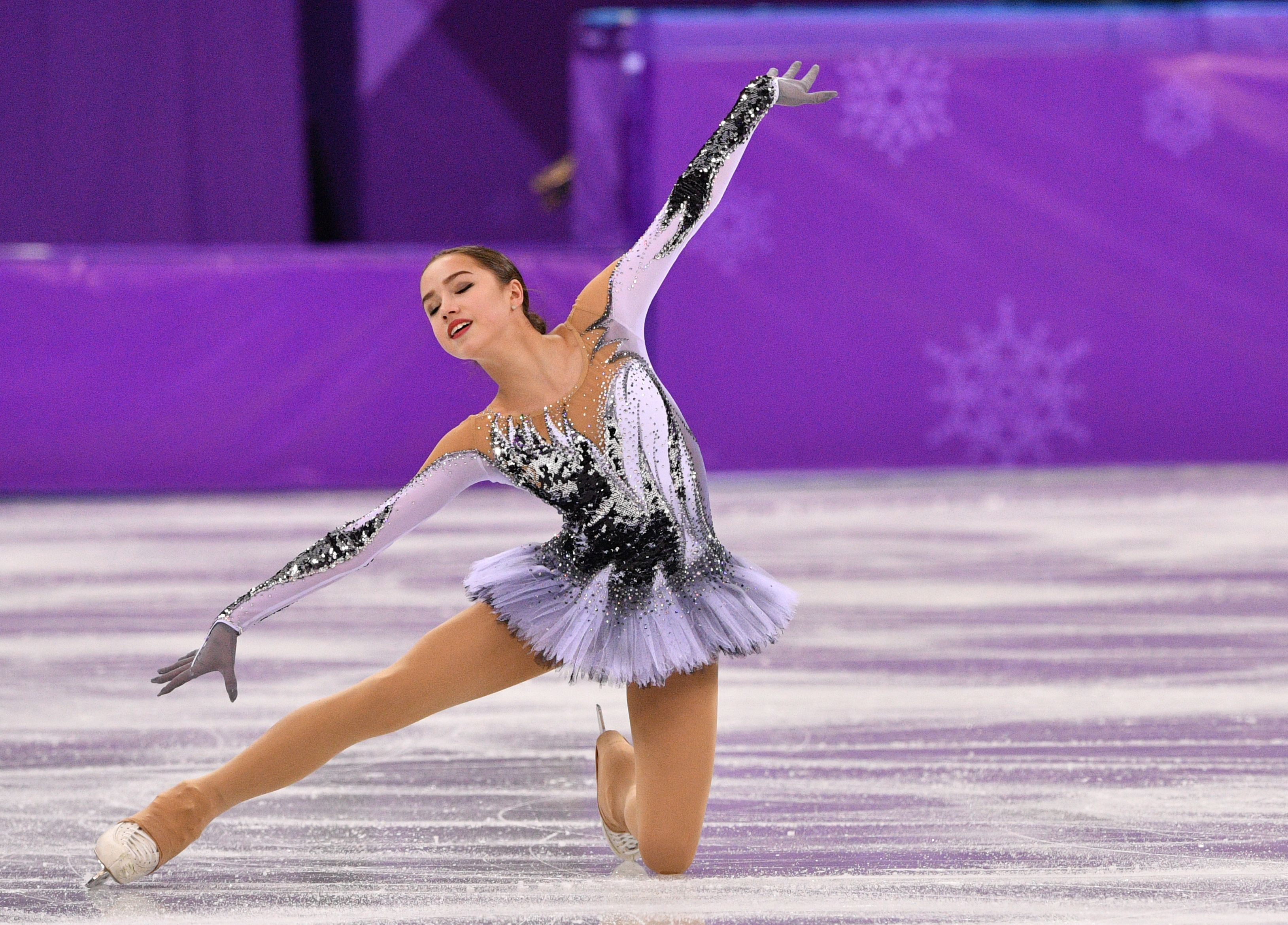 Russia's Alina Zagitova competes in the women's single skating short program of the figure skating event during the Pyeongchang 2018 Winter Olympic Games at the Gangneung Ice Arena in Gangneung on February 21, 2018