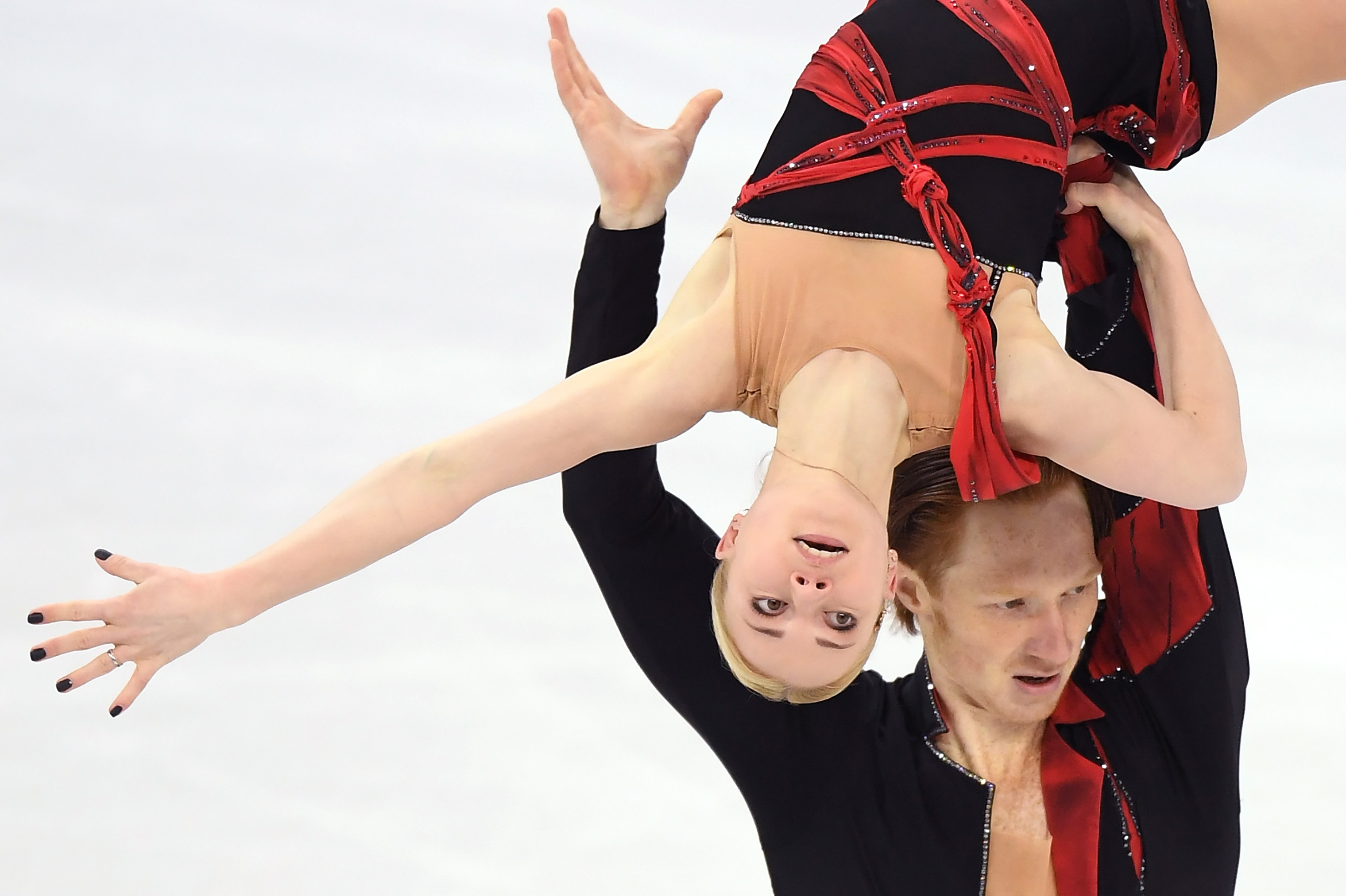Evgenia Tarasova and Vladimir Morozov, Olympic Athletes from Russia, compete in the Figure Skating Team Event during the PyeongChang 2018 Winter Olympic Games on Feb. 9, 2018.