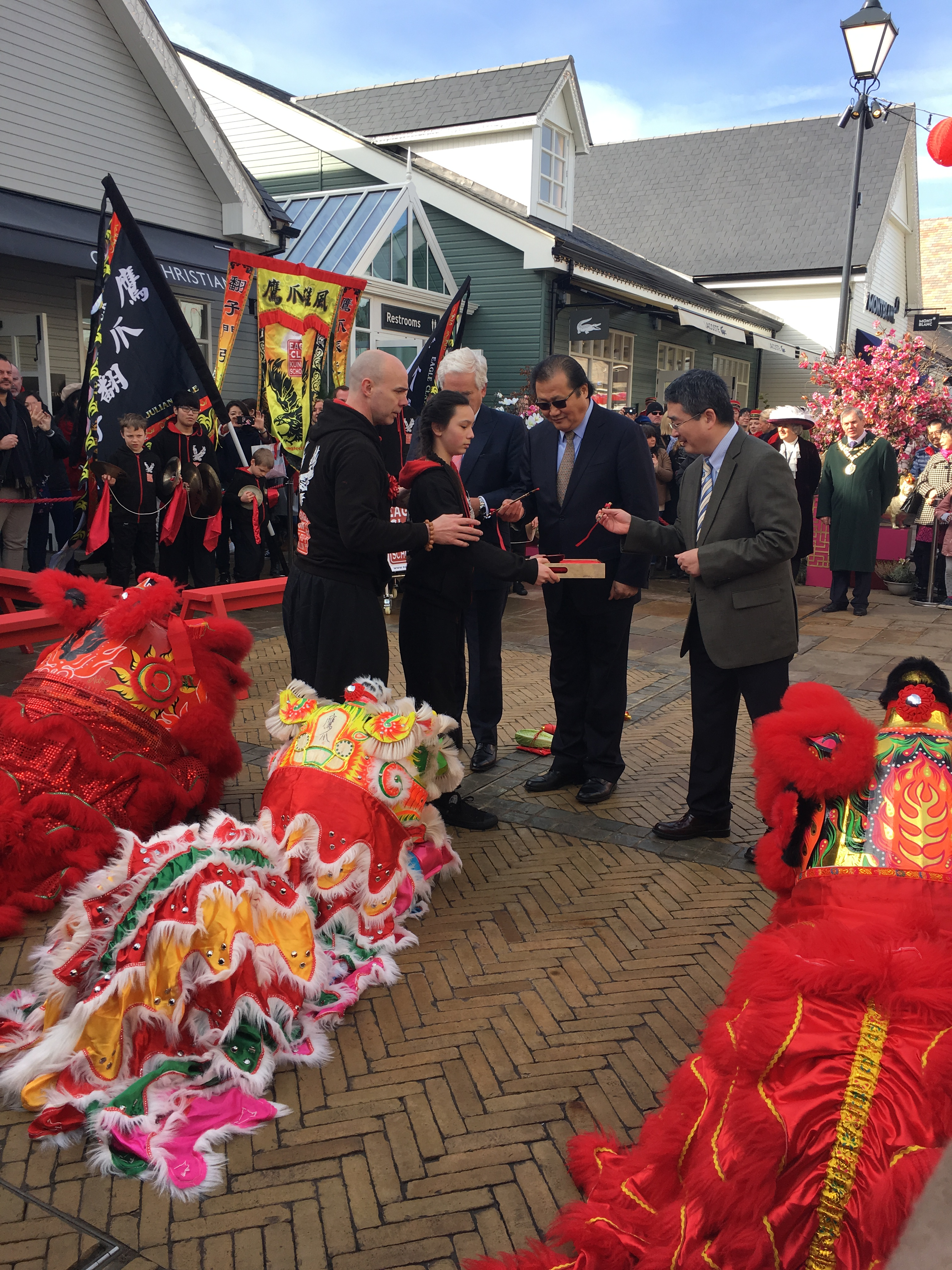 The eye dotting ceremony celebrating Chinese New Year in Bicester Village, Feb. 16 2018.