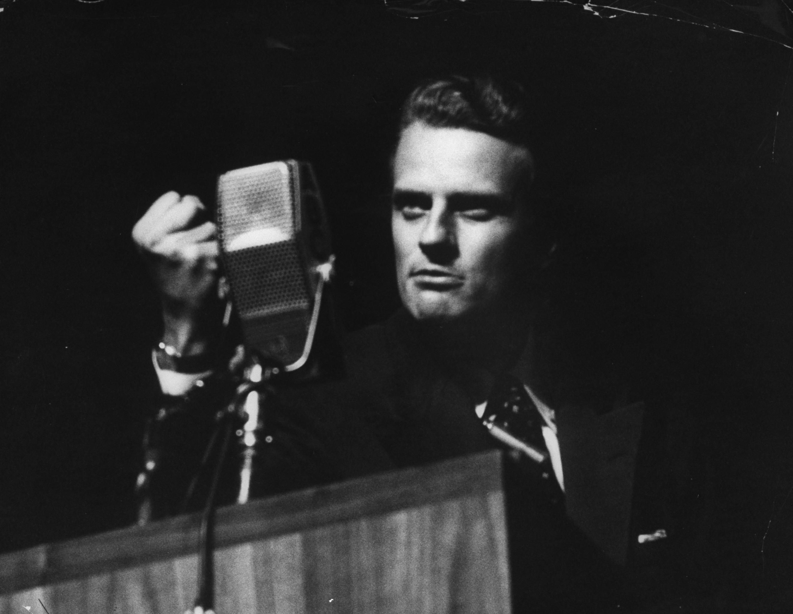 Evangelist Billy Graham in 1955