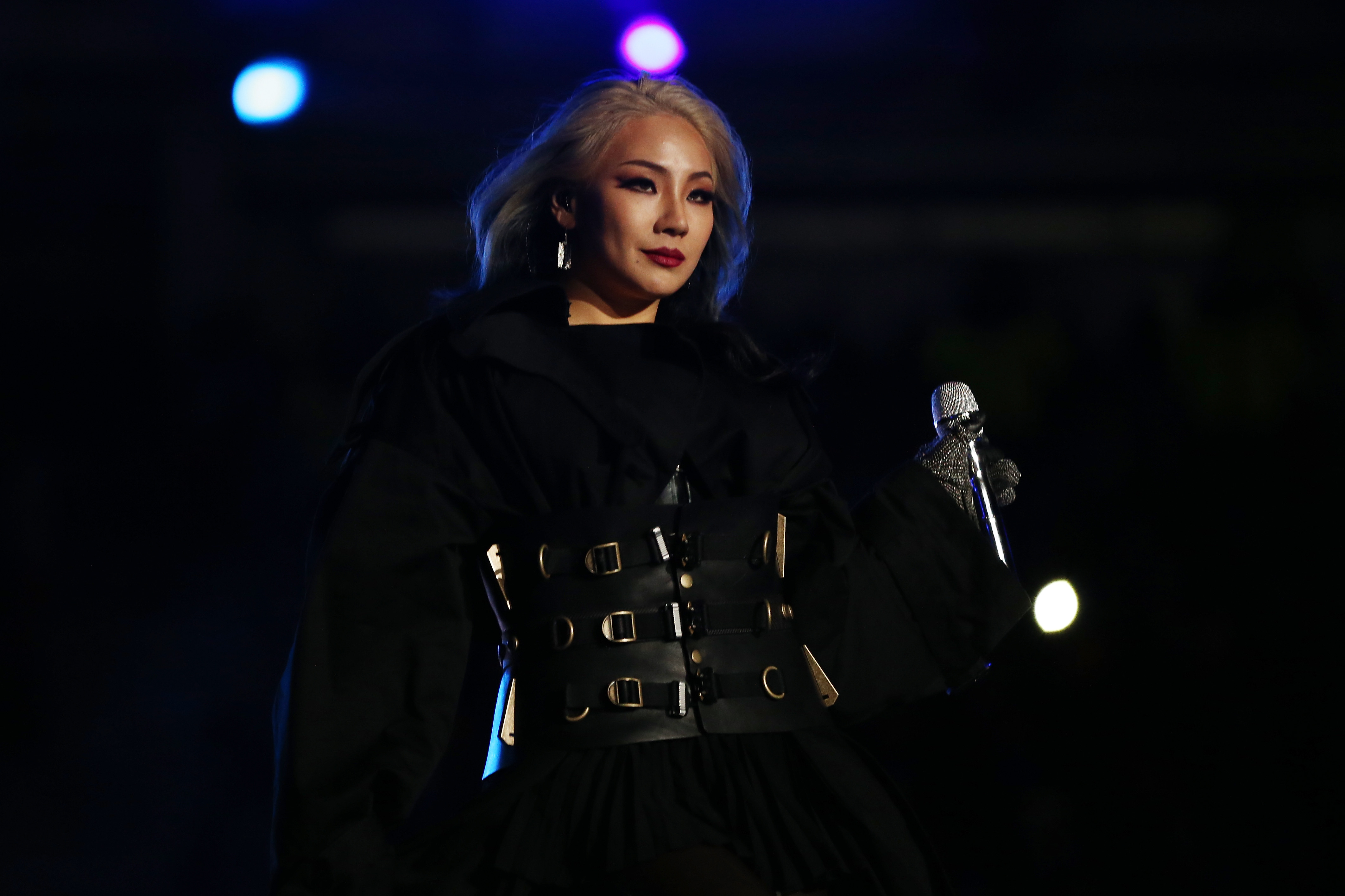 South Korean K-Pop singer CL performs during the Closing Ceremony of the PyeongChang 2018 Winter Olympic Games.