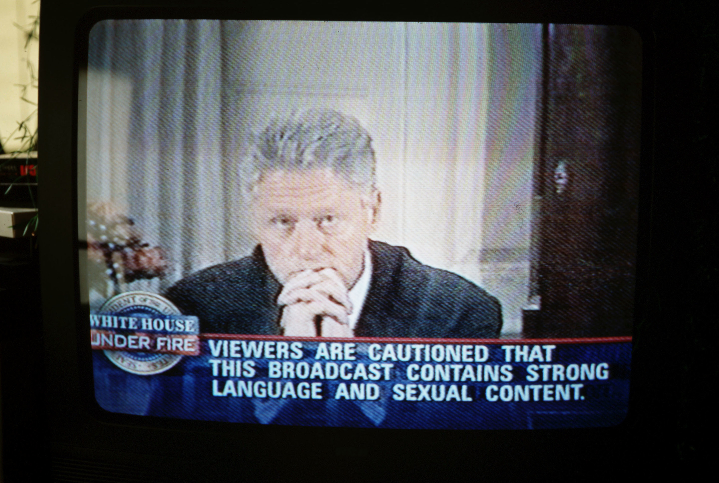 Bill Clinton confesses on television to the American people that he did indeed have sexual relations with  that woman, Monica Lewinsky, on Aug. 17, 1998.