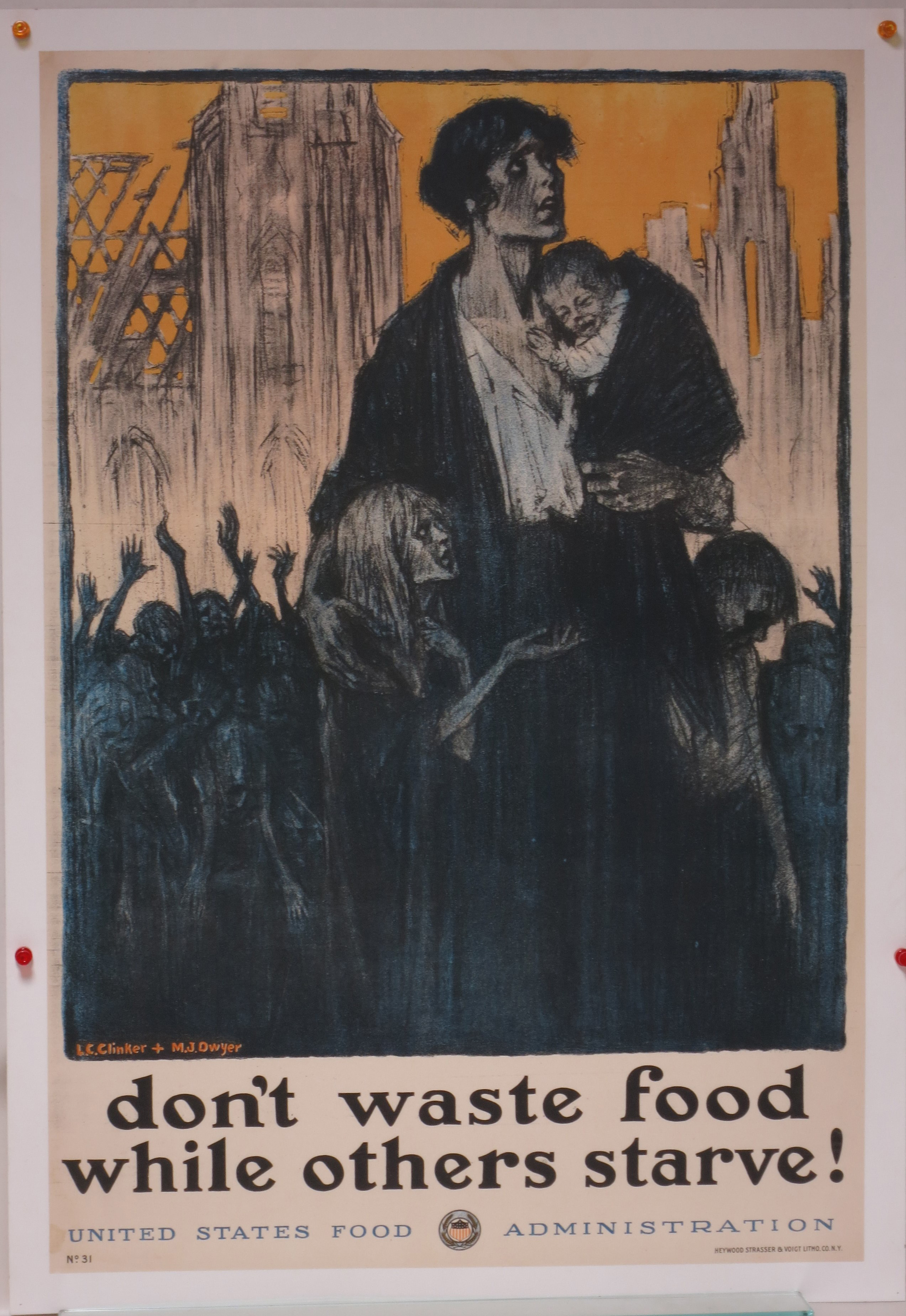 1918 poster advising against food waste