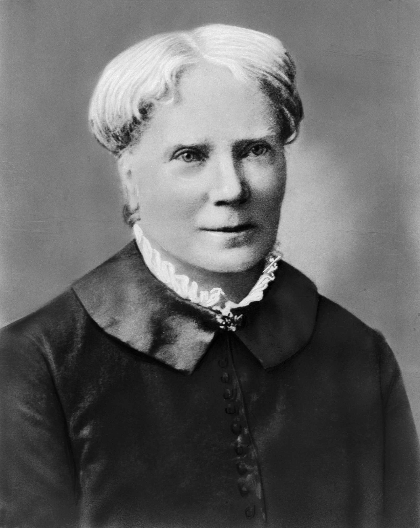 (Original Caption) Head and shoulders portrait of Elizabeth Blackwell (1821-1910), the first woman (in 1849), to receive a medical degree in the U.S. Undated photograph.