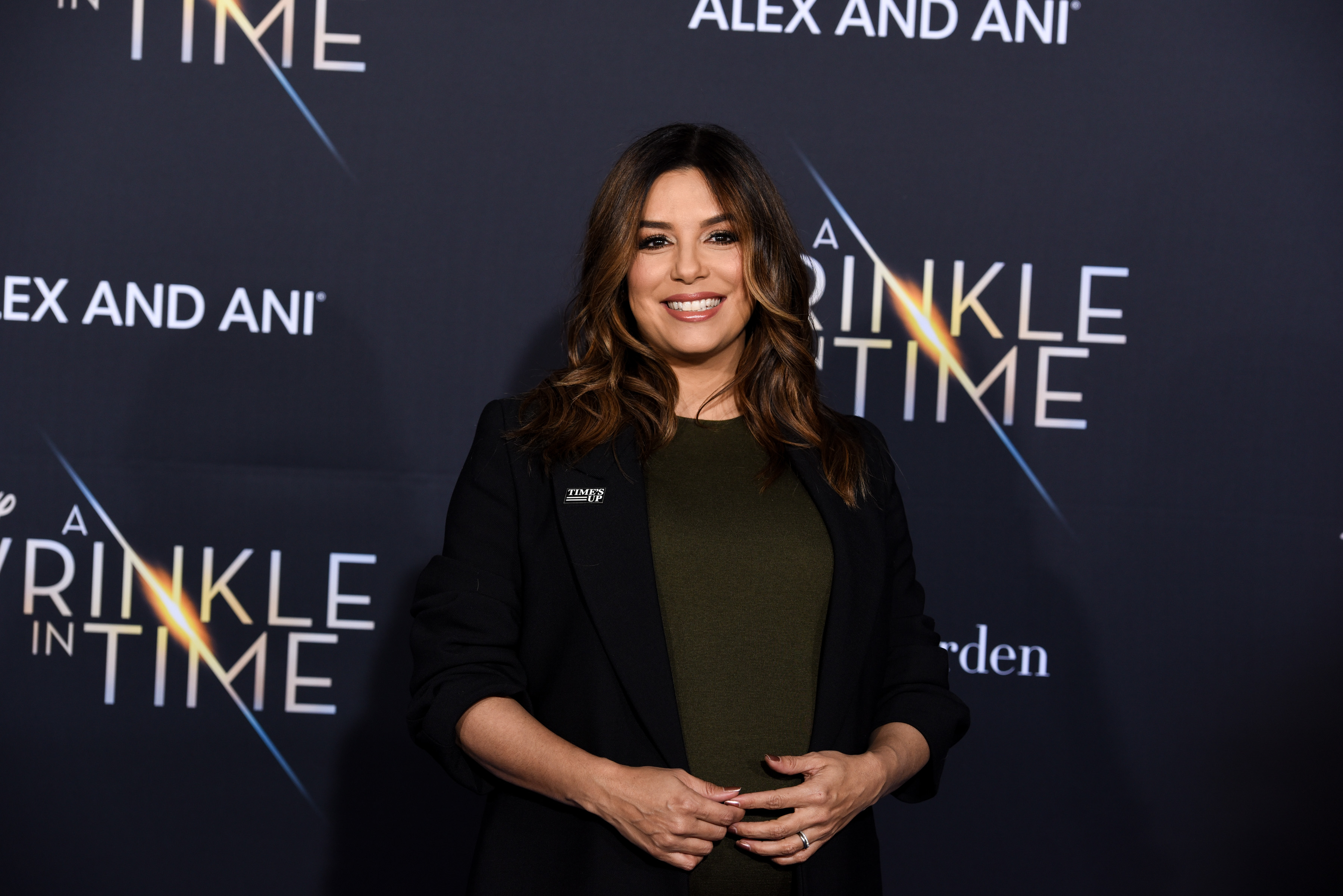 Eva Longoria attends Premiere Of Disney's  A Wrinkle In Time  - Arrivals on February 26, 2018 in Los Angeles, California.