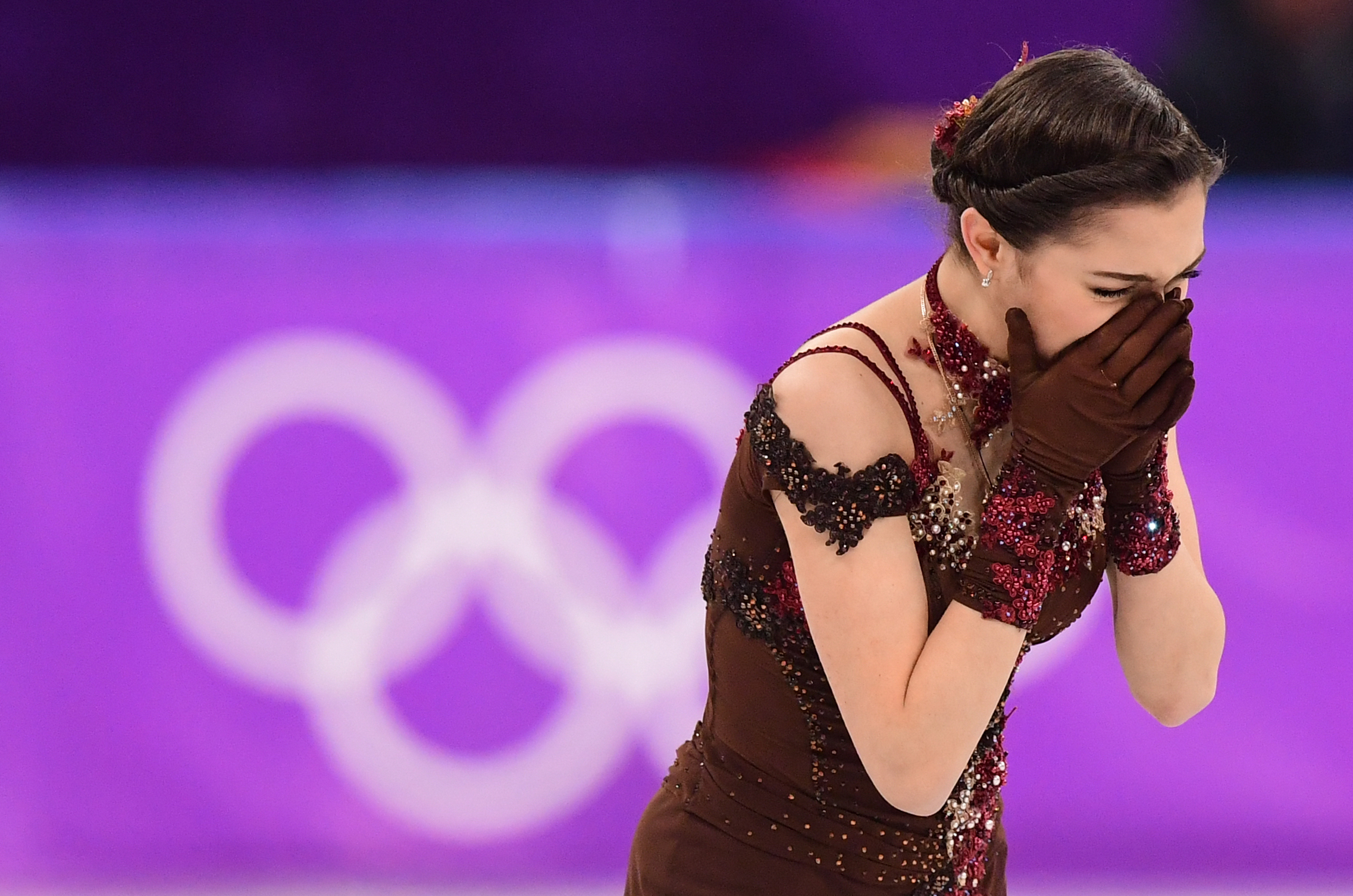 Russia's Evgenia Medvedeva took silver in the women's single figure skating event during the Pyeongchang 2018 Winter Olympic Games.