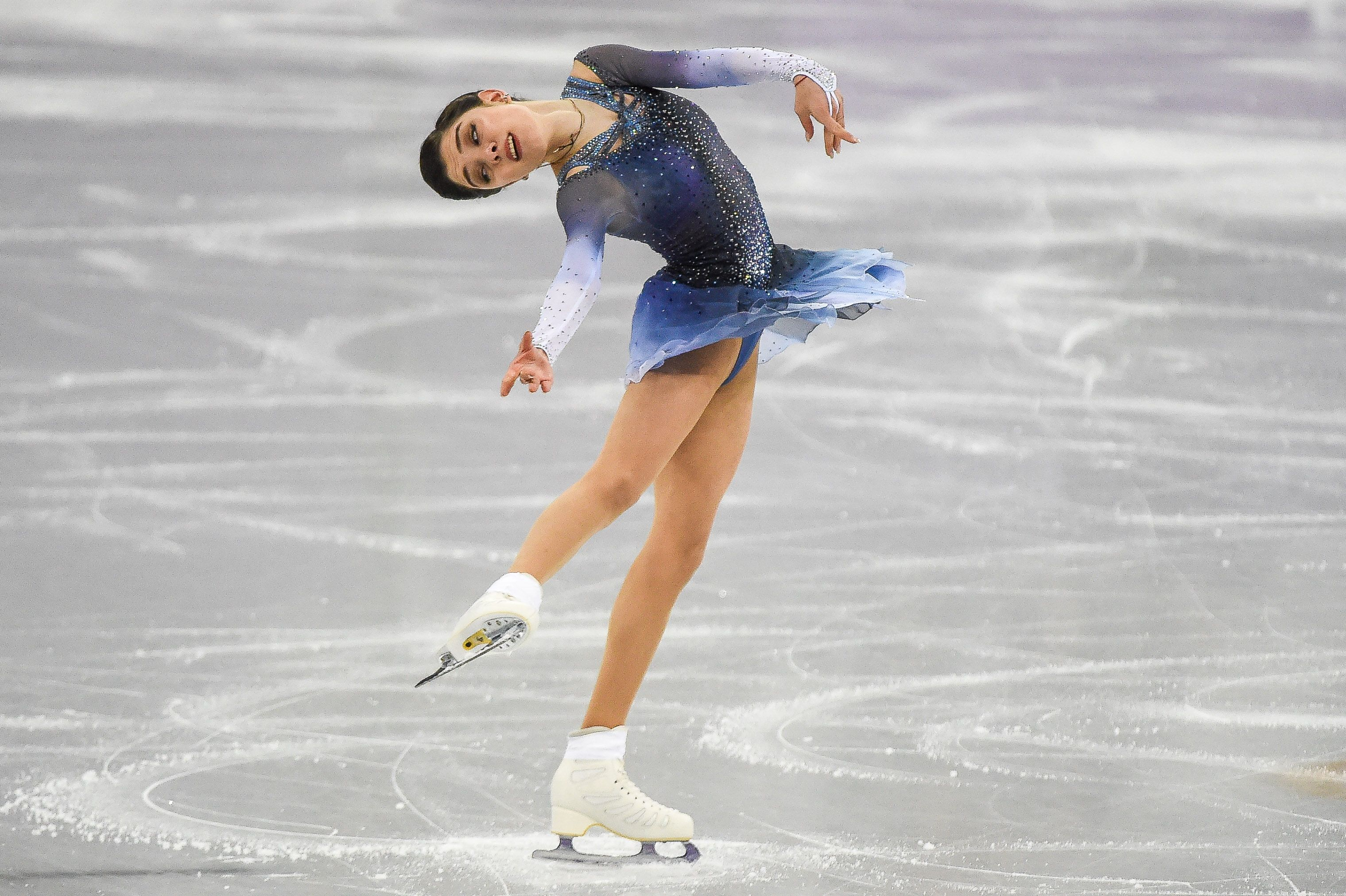 Evgenia Medvedeva of Russia competing in free dance at Gangneung Ice Arena , Gangneung, South Korea                       Pyeongchang Winter Olympics Day 13, Gangneung, USA - 21 Feb 2018