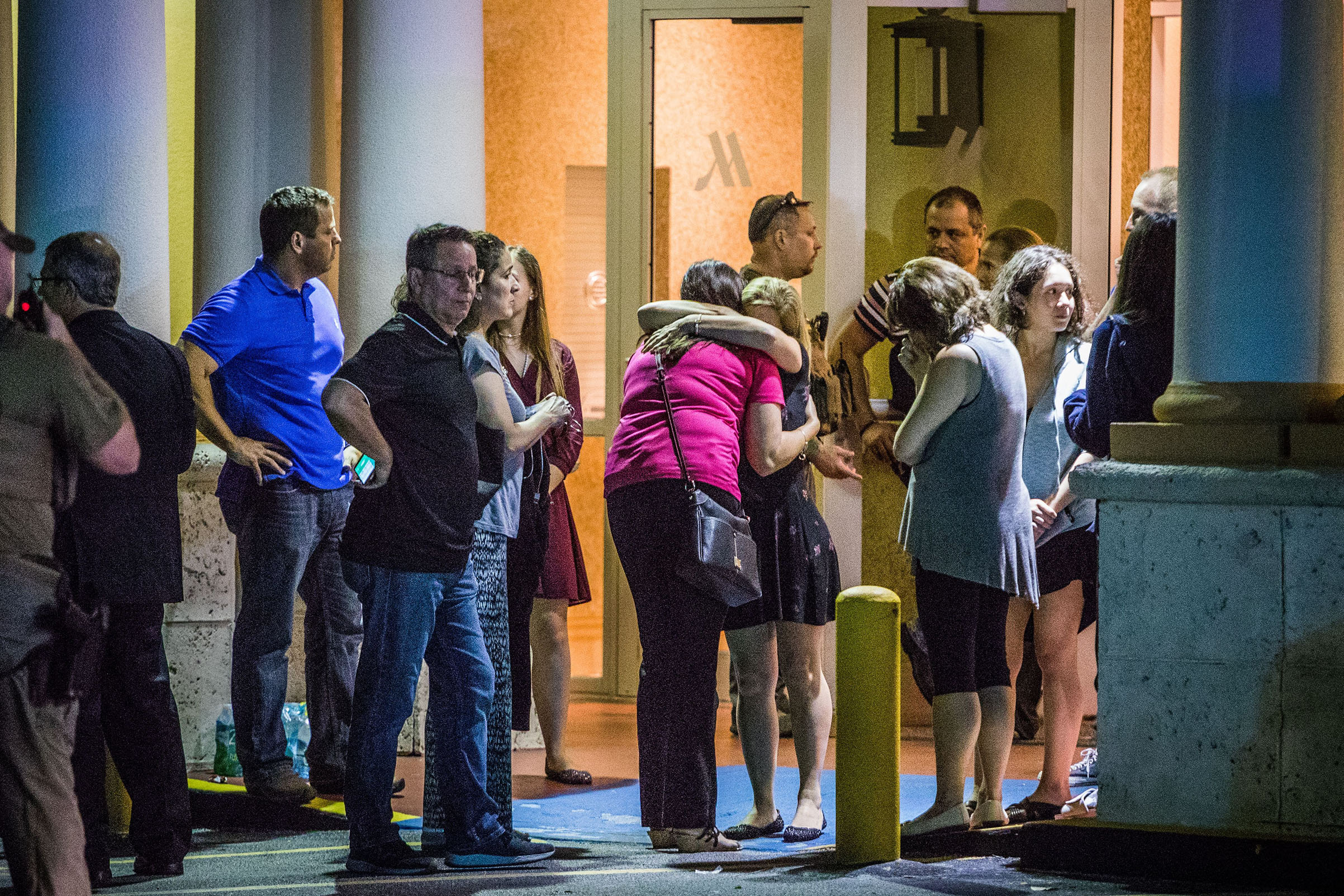 The FBI and police agencies from surrounding counties responded to a mass shooting at Marjory Stoneman Douglas High in Parkland, Fla on Feb. 14, 2018.