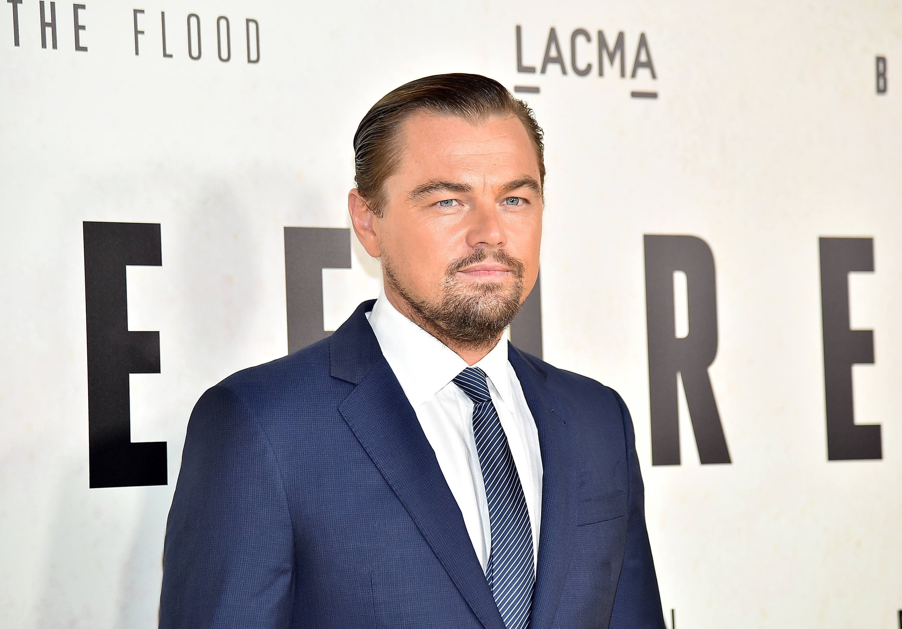 Leonardo DiCaprio attends the screening of National Geographic Channel's  Before The Flood  at Bing Theater At LACMA in Los Angeles, California on Oct. 24, 2016.