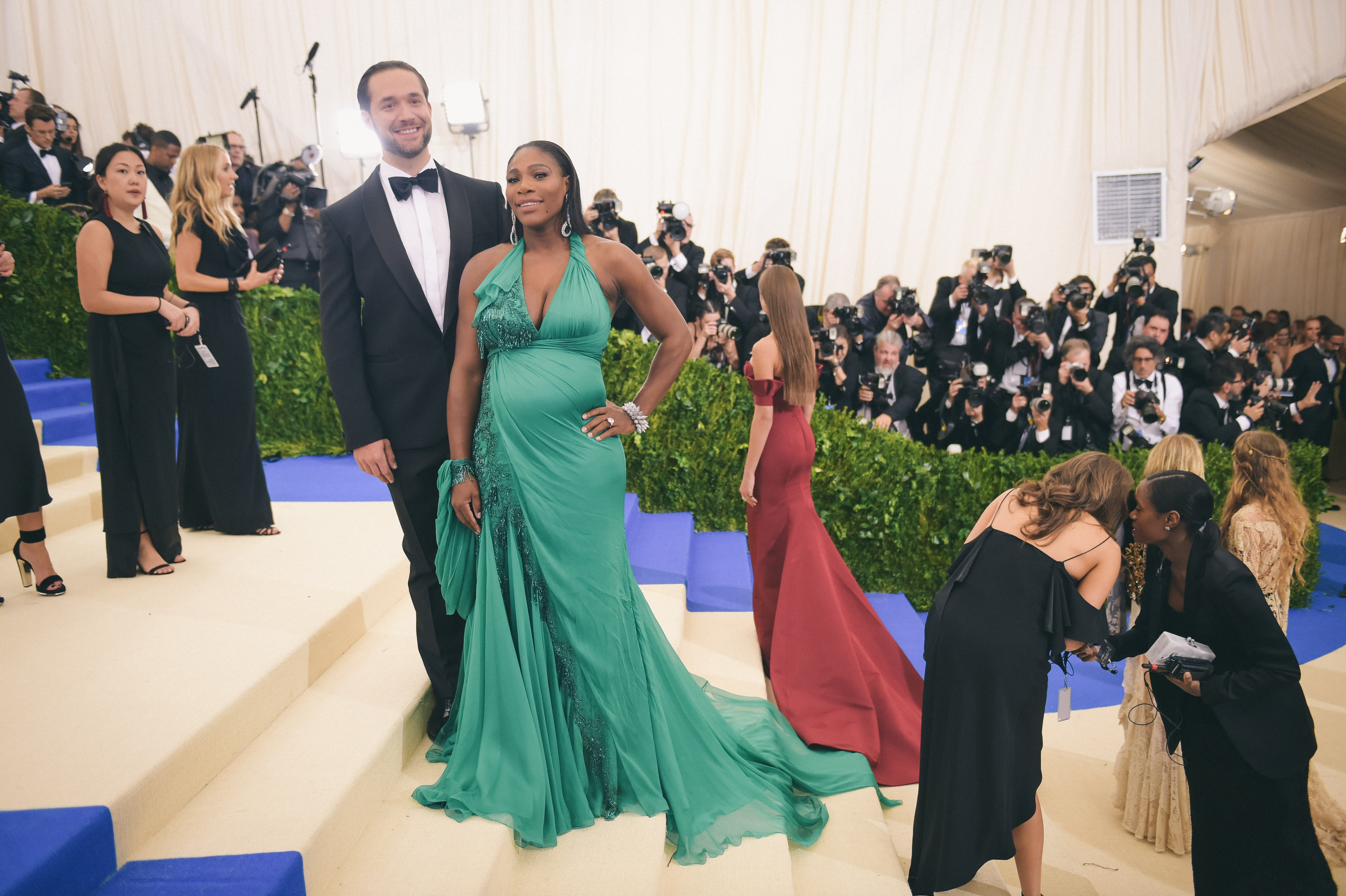 Alexis Ohanian and Serena Williams attend the  Rei Kawakubo/Comme des Garcons: Art Of The In-Between  Costume Institute Gala at Metropolitan Museum of Art on May 1, 2017 in New York City.