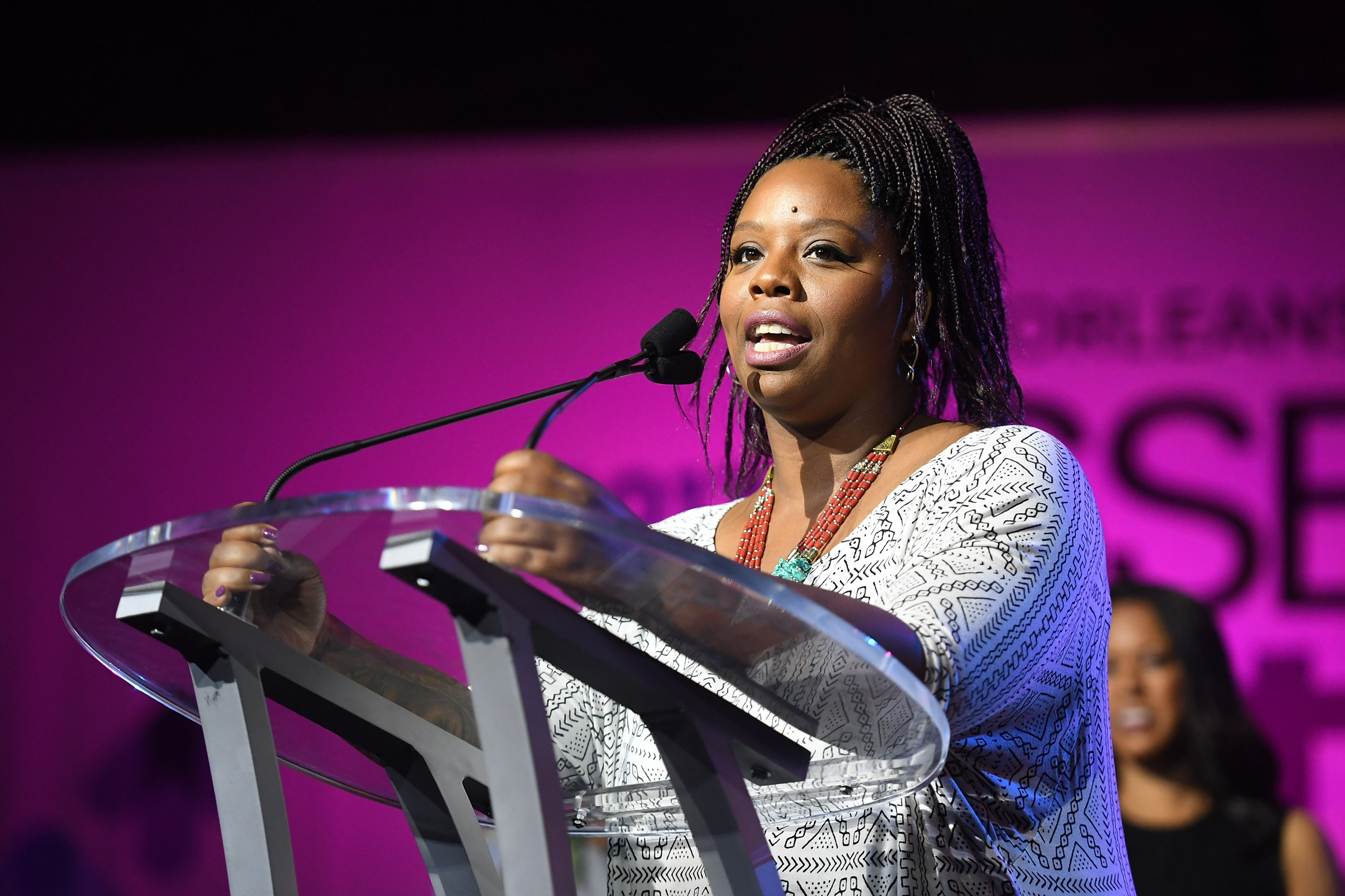 Patrisse Cullors speaks onstage at the 2017 ESSENCE Festival presented by Coca-Cola at Ernest N. Morial Convention Center on July 1, 2017 in New Orleans, Louisiana.