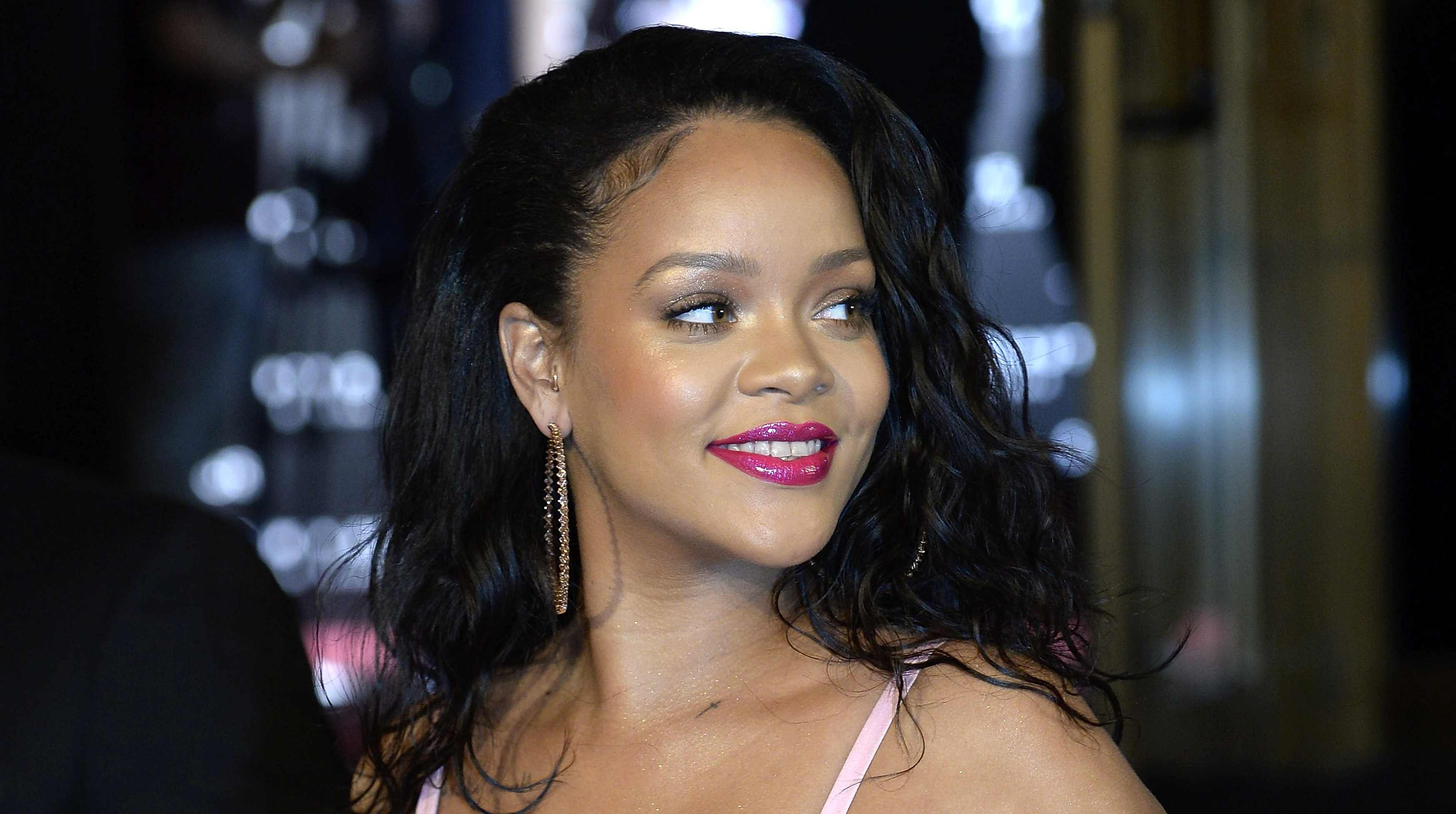 Rihanna attends the Fenty Beauty by Rihanna presentation at Callao Cinemas on Sept. 23, 2017 in Madrid, Spain.