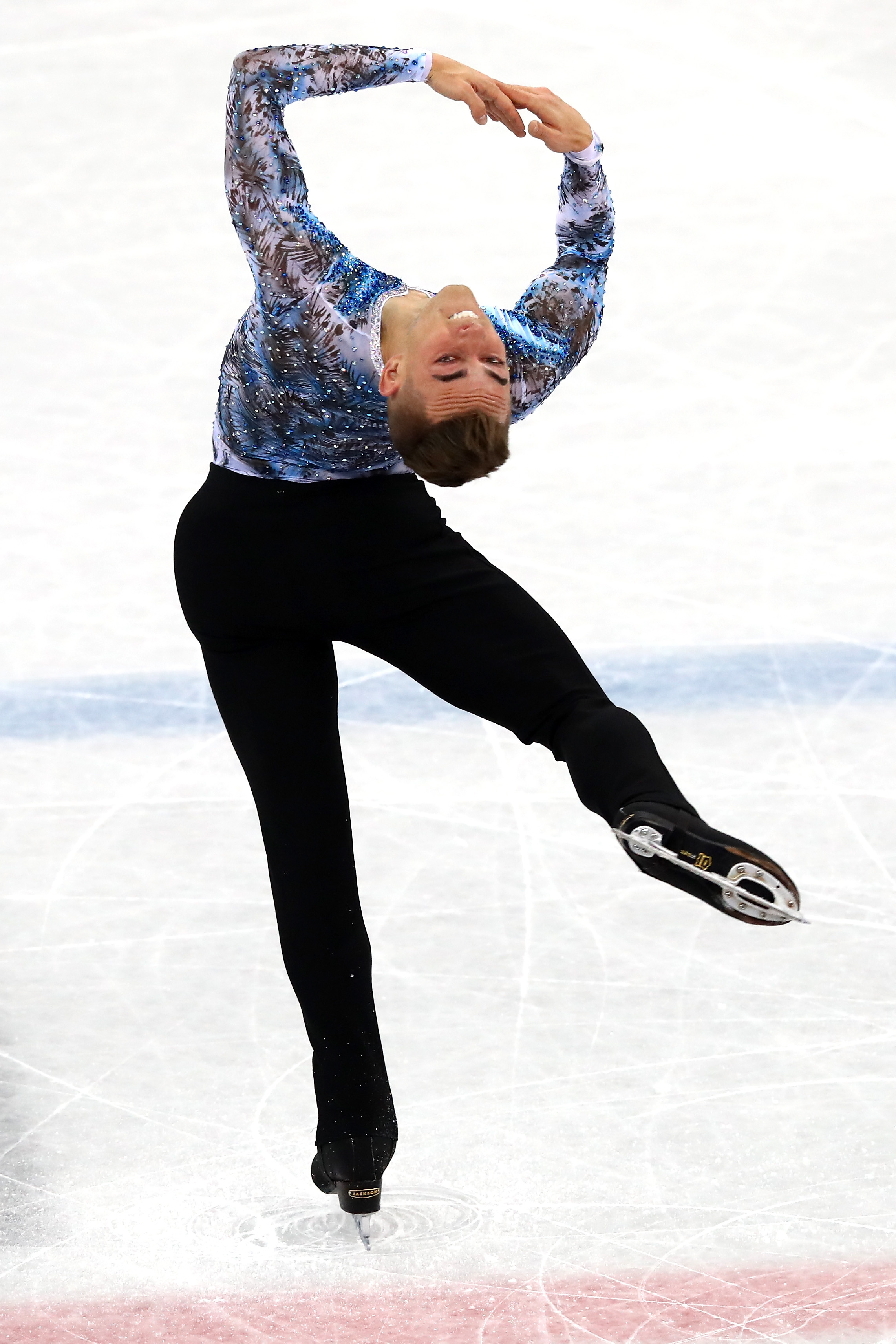 Adam Rippon of the United States competes in the Figure Skating Team Event – Men's Single Free Skating on day three of the PyeongChang 2018 Winter Olympic Games at Gangneung Ice Arena on Feb. 12, 2018 in Gangneung, South Korea.
