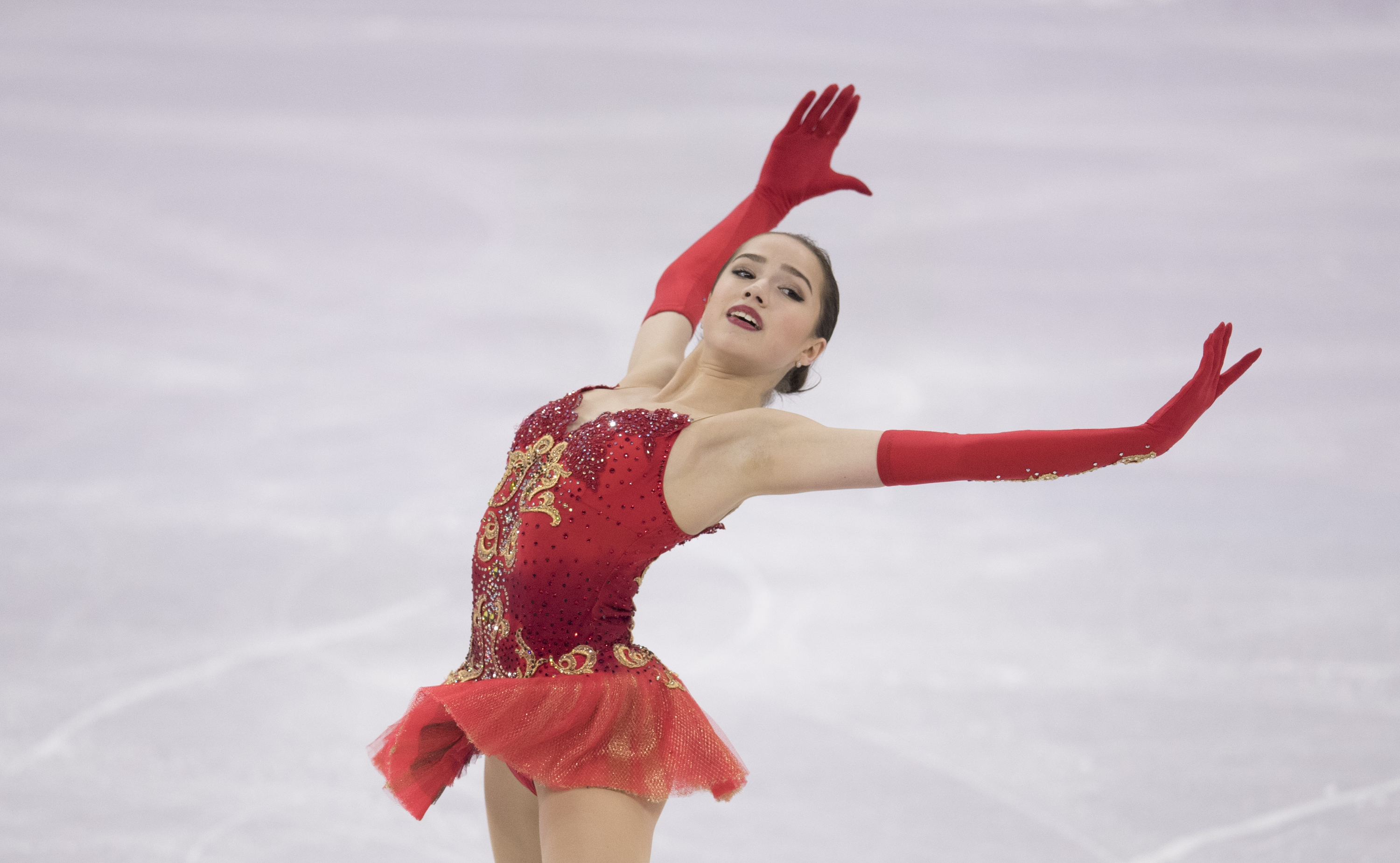 Alina Zagitova of Olympic Athlete from Russia competes in the Figure Skating Team Event on day three of the PyeongChang 2018 Winter Olympic Games at Gangneung Ice Arena in Gangneung, South Korea on February 12, 2018.