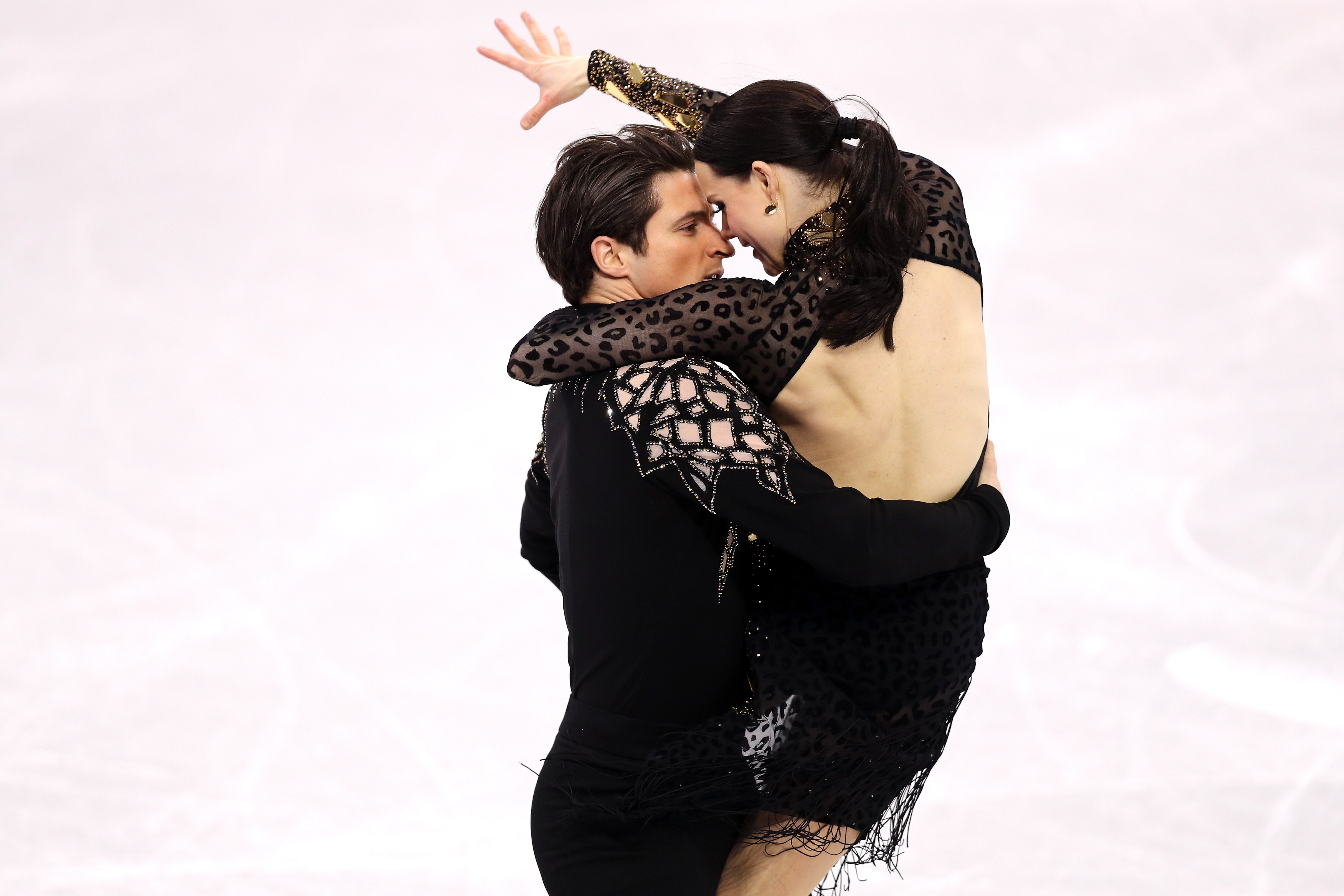 Tessa Virtue and Scott Moir of Canada compete during the Figure Skating Ice Dance Short Dance on day 10 of the PyeongChang 2018 Winter Olympic Games at Gangneung Ice Arena on Feb. 19, 2018 in Pyeongchang-gun, South Korea.