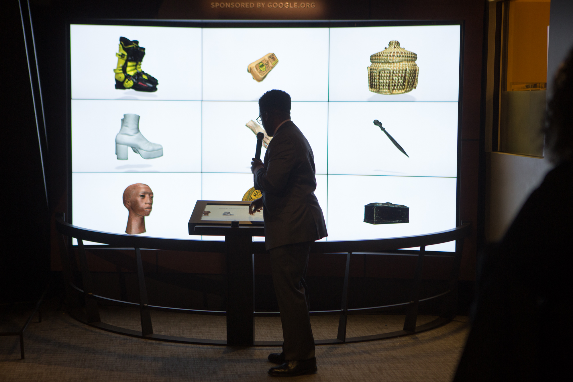 The new Google funded exhibit at the National African-American Museum made it's debut at a reception Feb. 1, 2018, in Washington, DC.