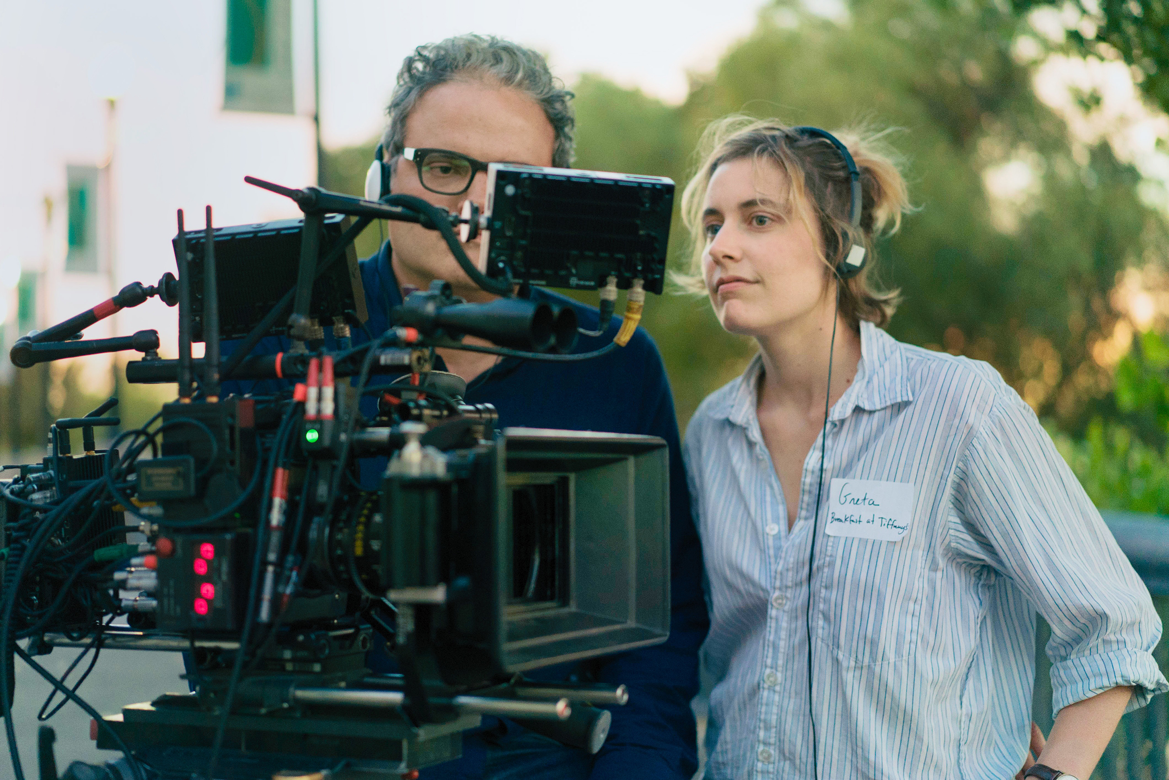 Gerwig had the cast and crew of Lady Bird wear name tags to create a warm atmosphere on set