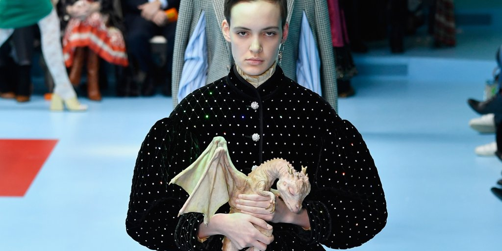 Gucci Debuts Baby Dragons Game Of Thrones Style On Runway Time