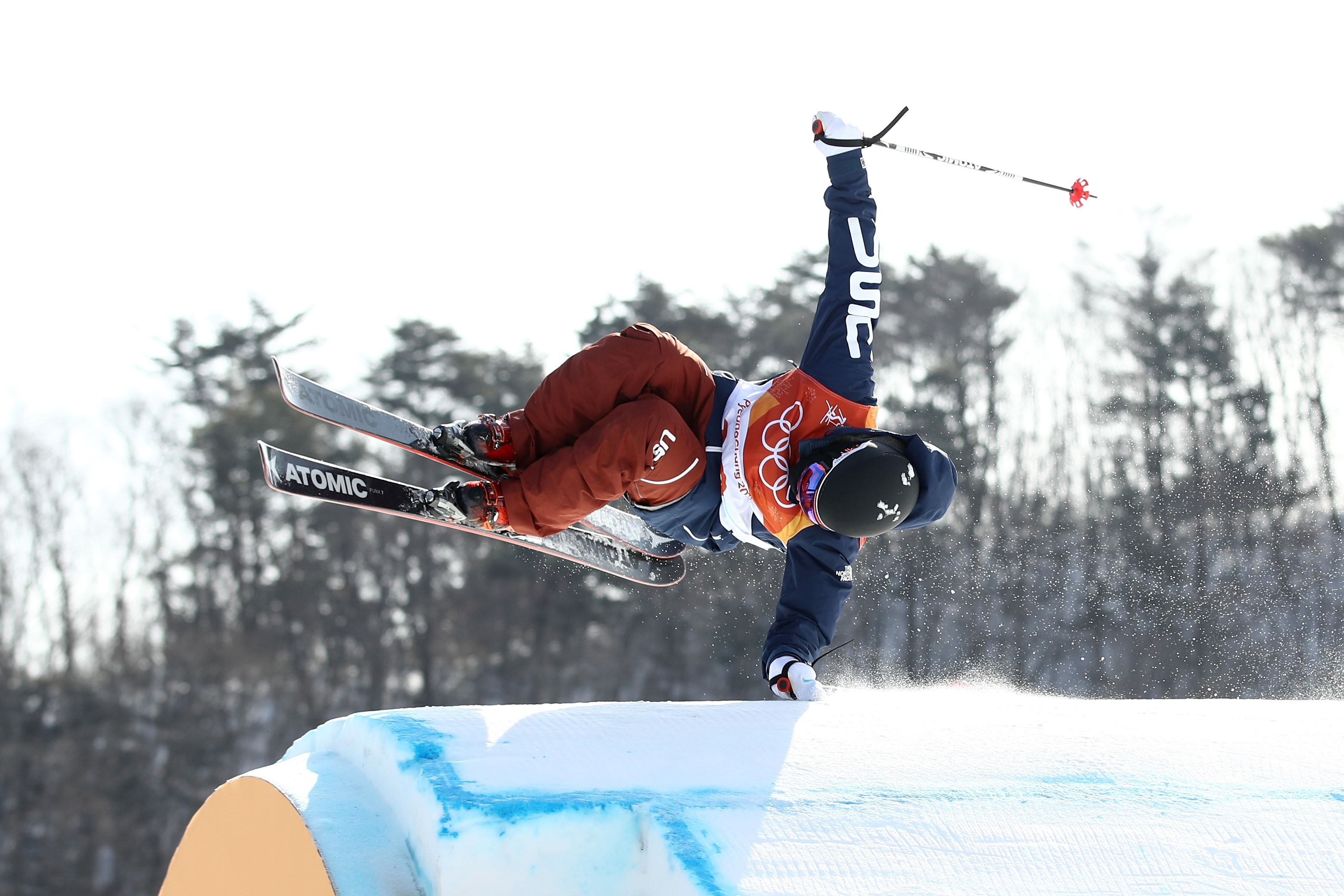 Gus Kenworthy of the United States competes during the men's ski slopestyle qualification at the PyeongChang 2018 Winter Olympic Games at Phoenix Snow Park on Feb. 18, 2018 in Pyeongchang-gun, South Korea.