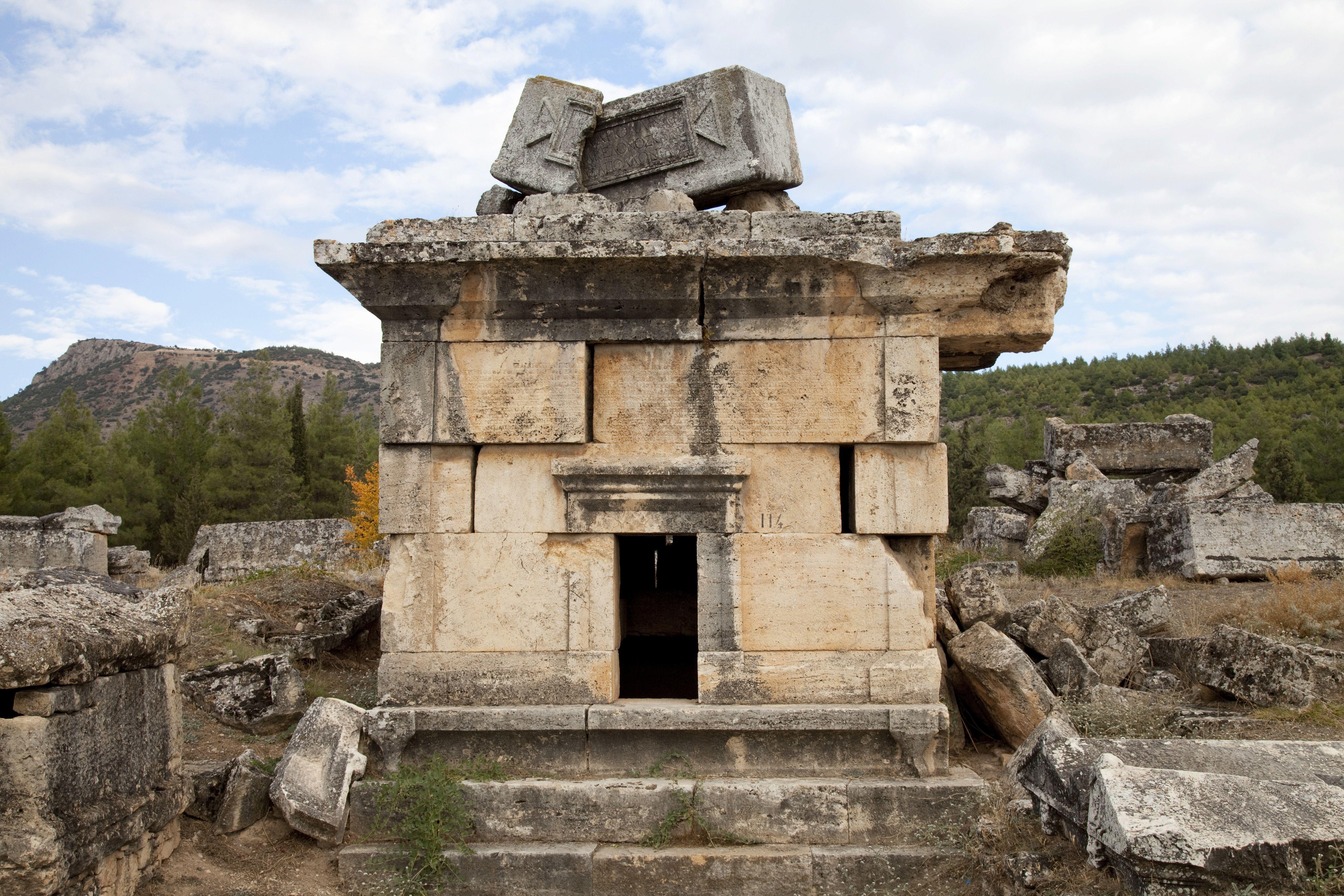 Tomb, Hierapolis, Pamukkale, Denizli, Turkey, Asia