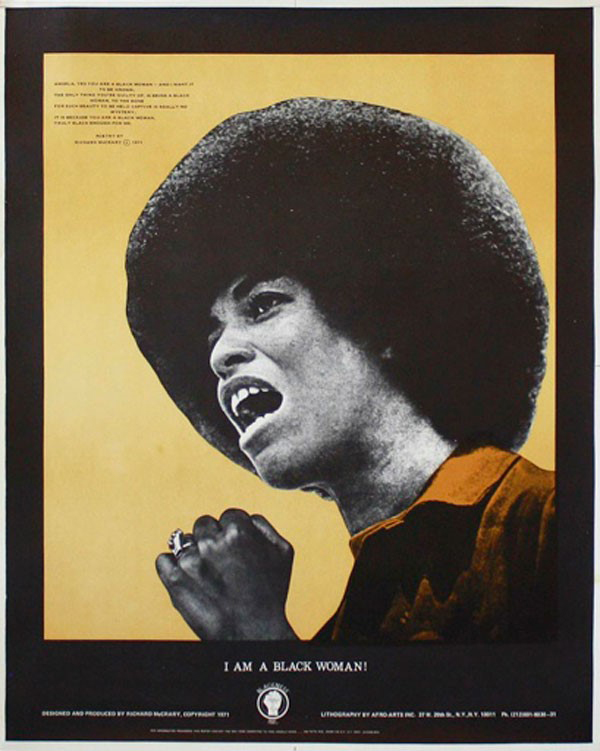 1971 poster, by Richard McCrary, for the NY Committee to Free Angela Davis