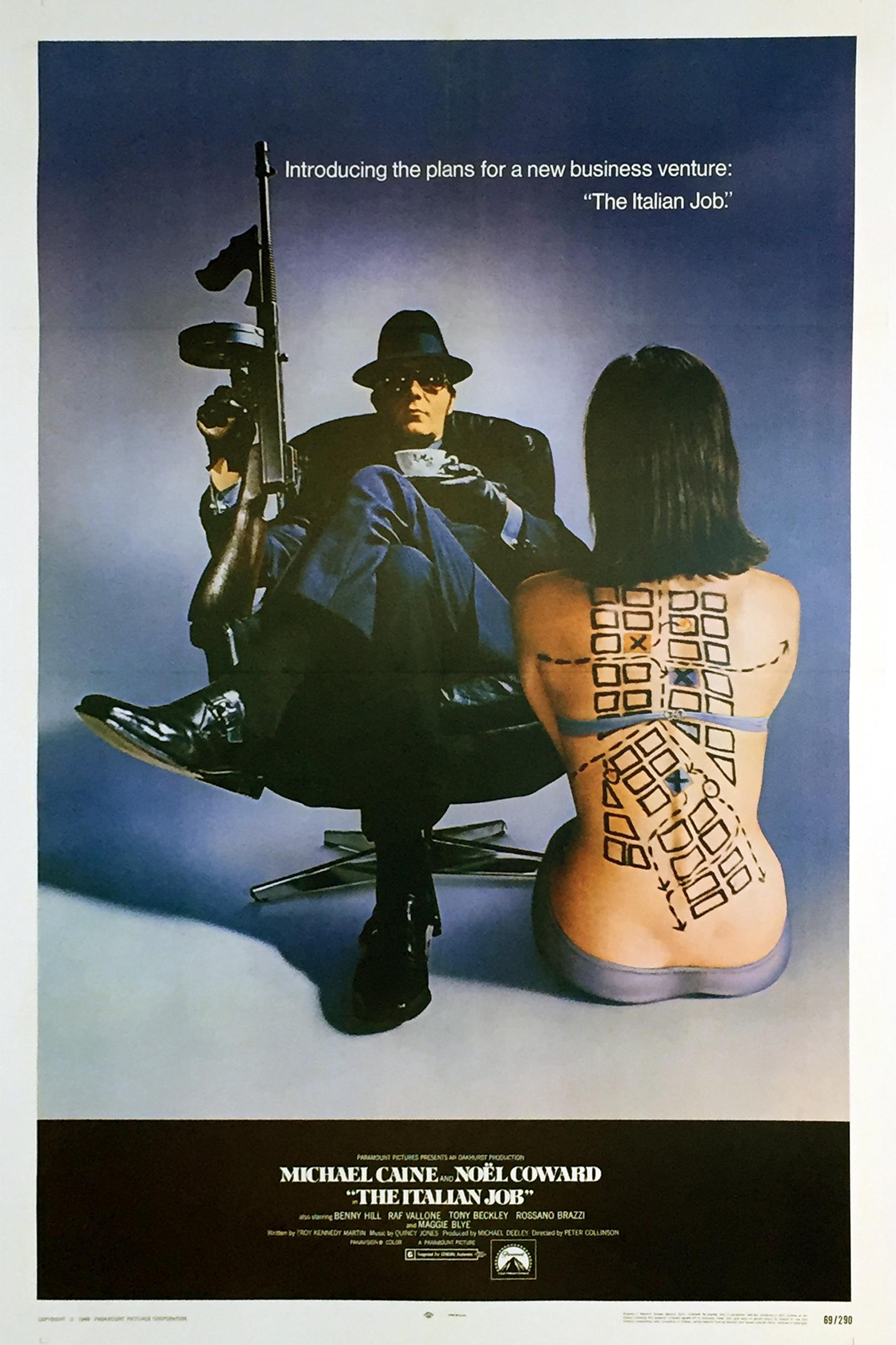 Poster for 'The Italian Job,' 1969