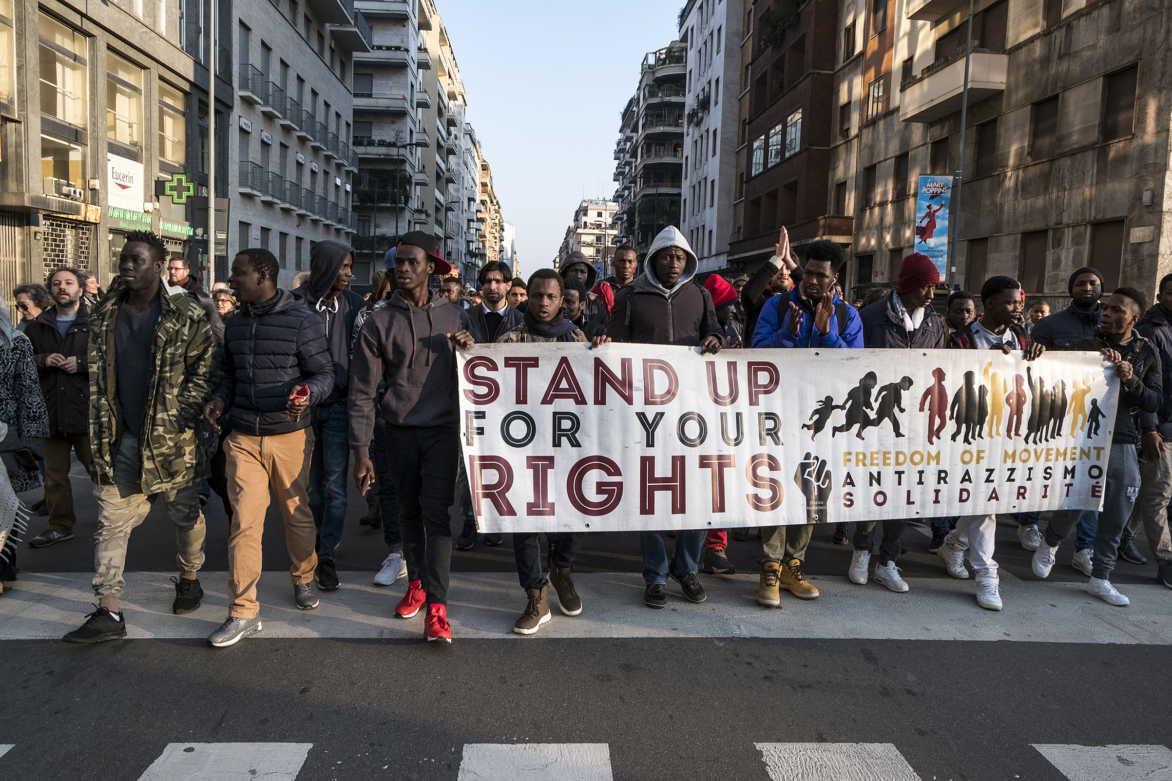 After the attempted massacre by a new fascist in Macerata, the entire community of migrants and Italians called a demonstration of support for the victims.