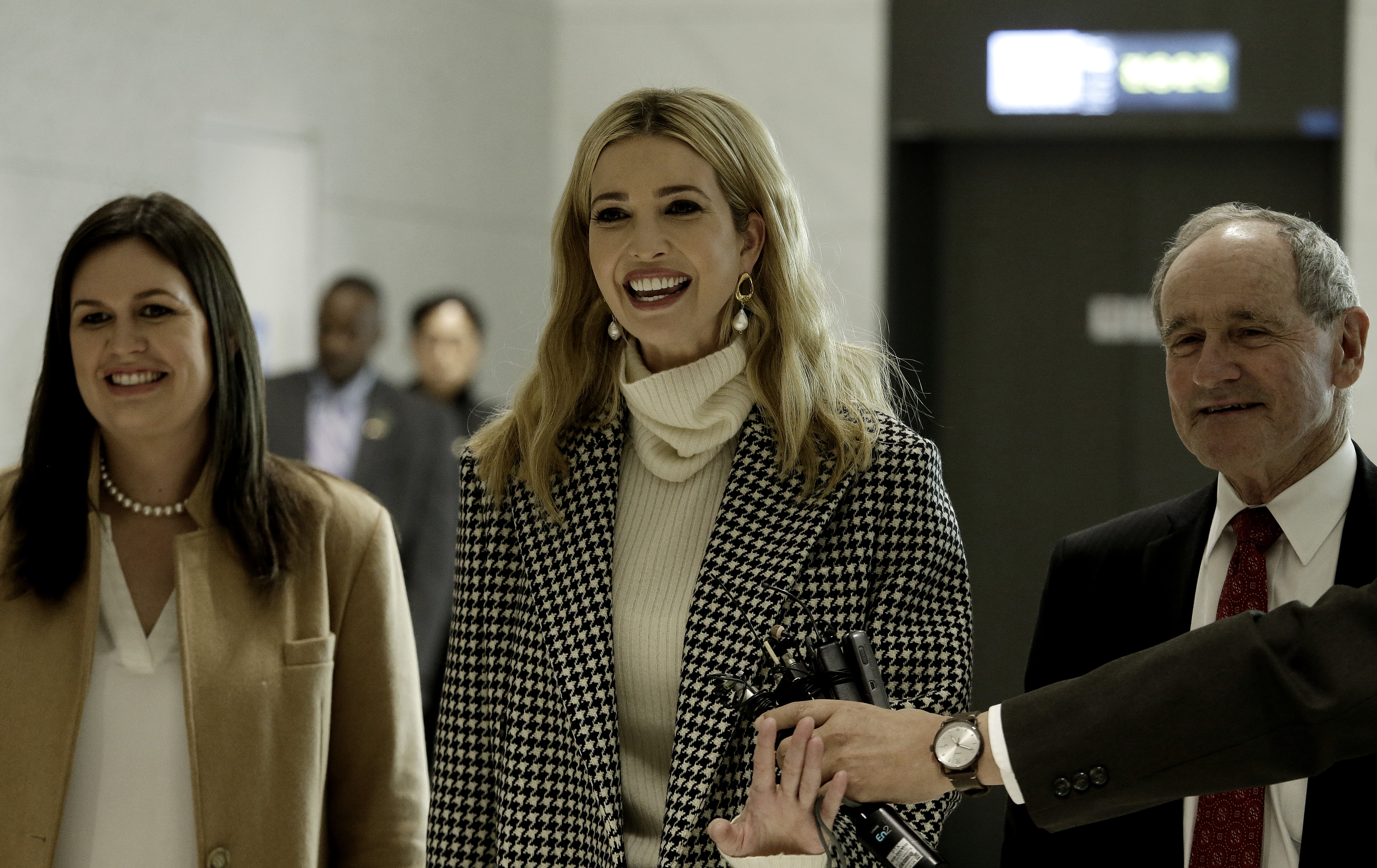 Ivanka Trump, advisor to and daughter of U.S. President Donald Trump, arrives at Incheon International Airport on February 23, 2018 in Seoul, South Korea