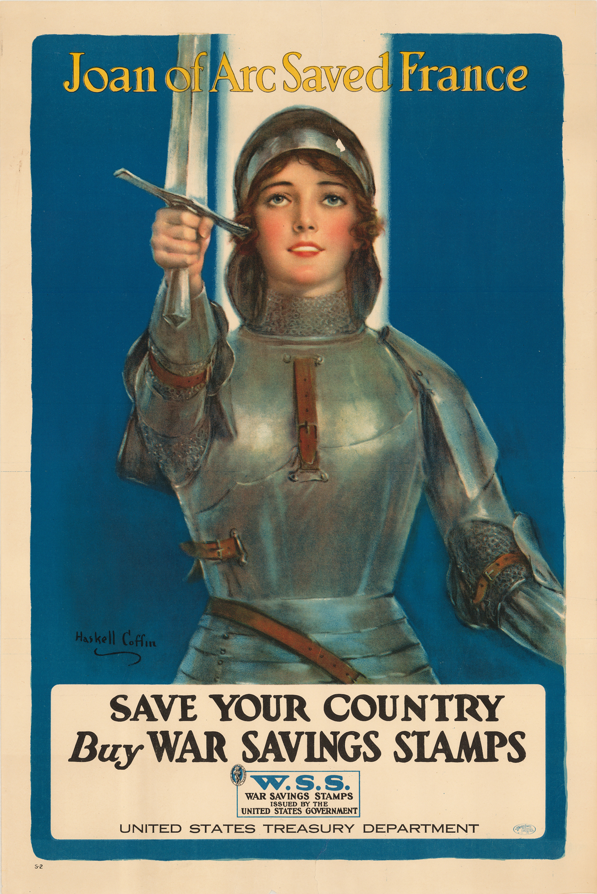1918 poster appealing to Americans to buy war stamps