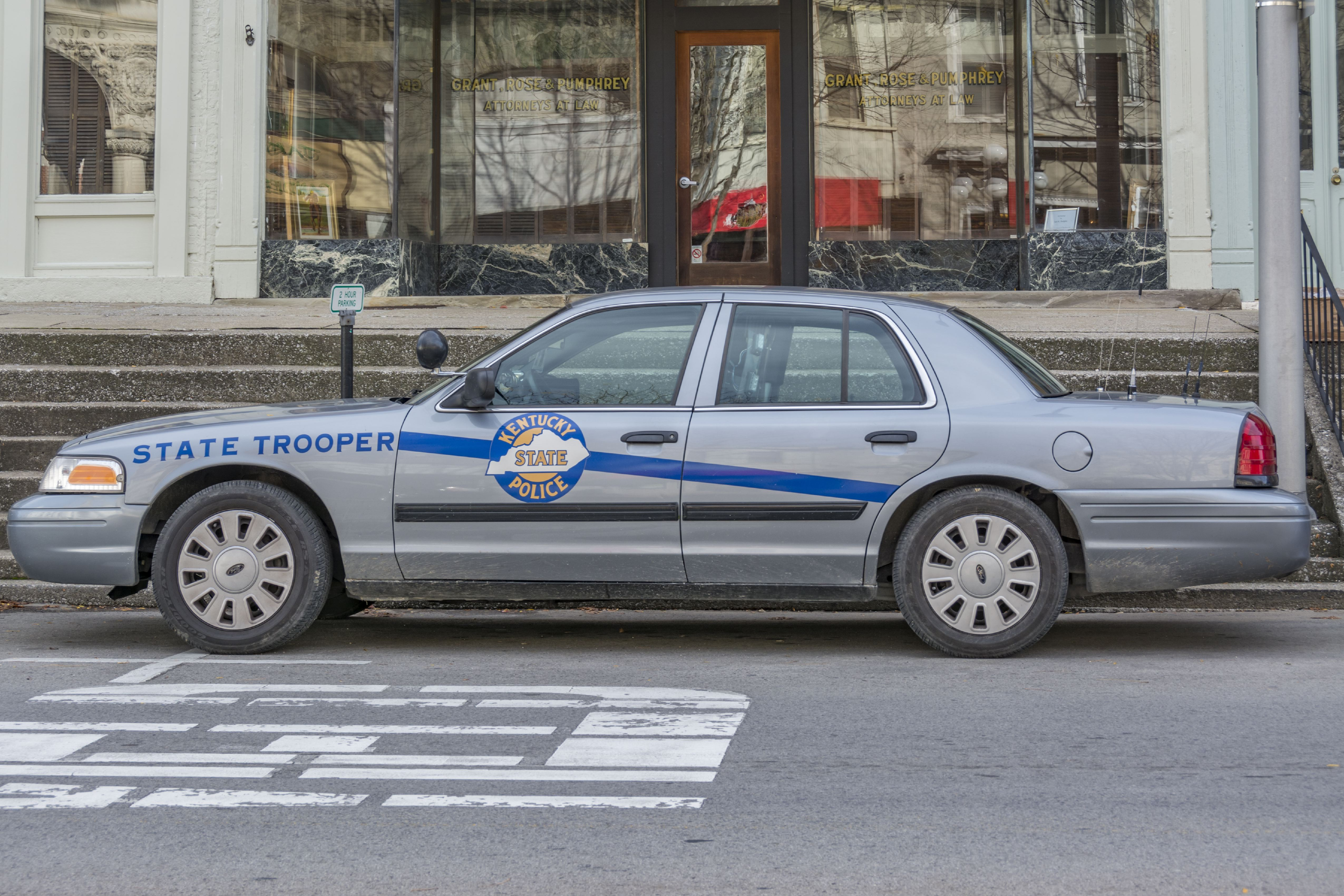 Kentucky State Trooper police car. (Photo by:  Education Images/UIG via Getty Images)