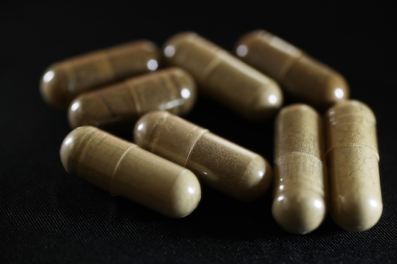 Capsules of the drug Kratom.