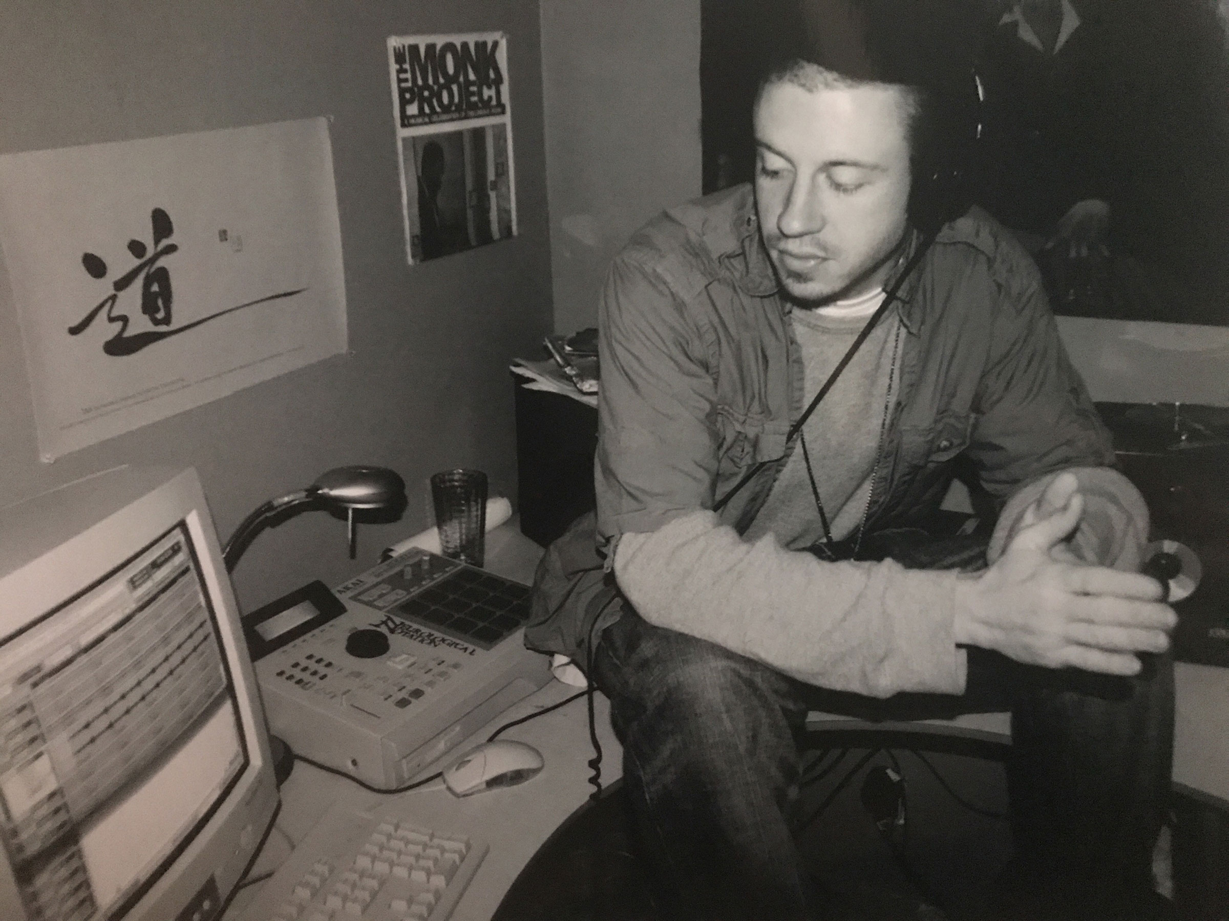 Macklemore at age 23 in his bedroom which doubled as a music studio in Seattle, 2006.