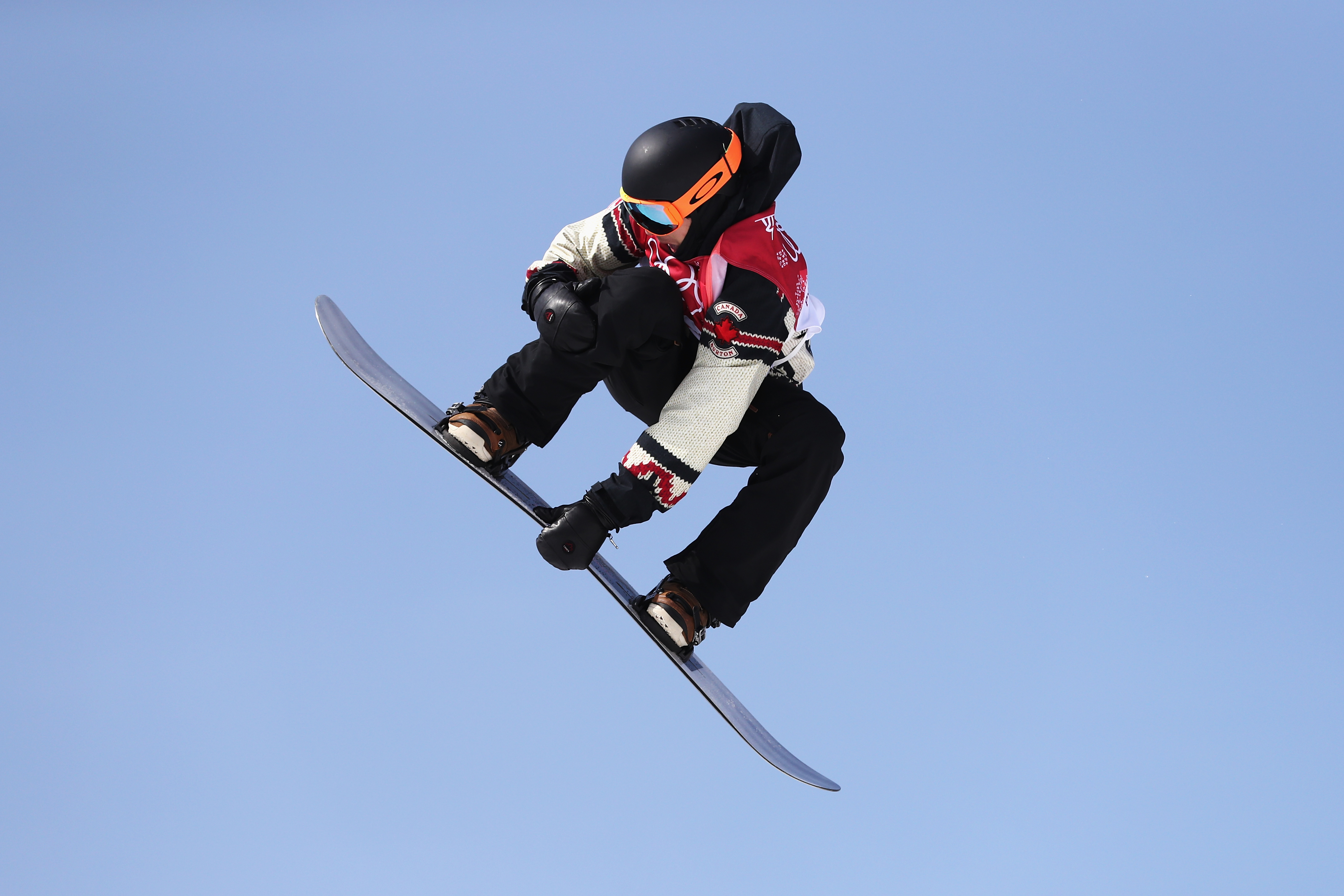 Mark McMorris of Canada competes during the Men's Big Air Qualification Heat 2 on day 12 of the PyeongChang 2018 Winter Olympic Games at Alpensia Ski Jumping Centre on February 21, 2018 in Pyeongchang-gun, South Korea.