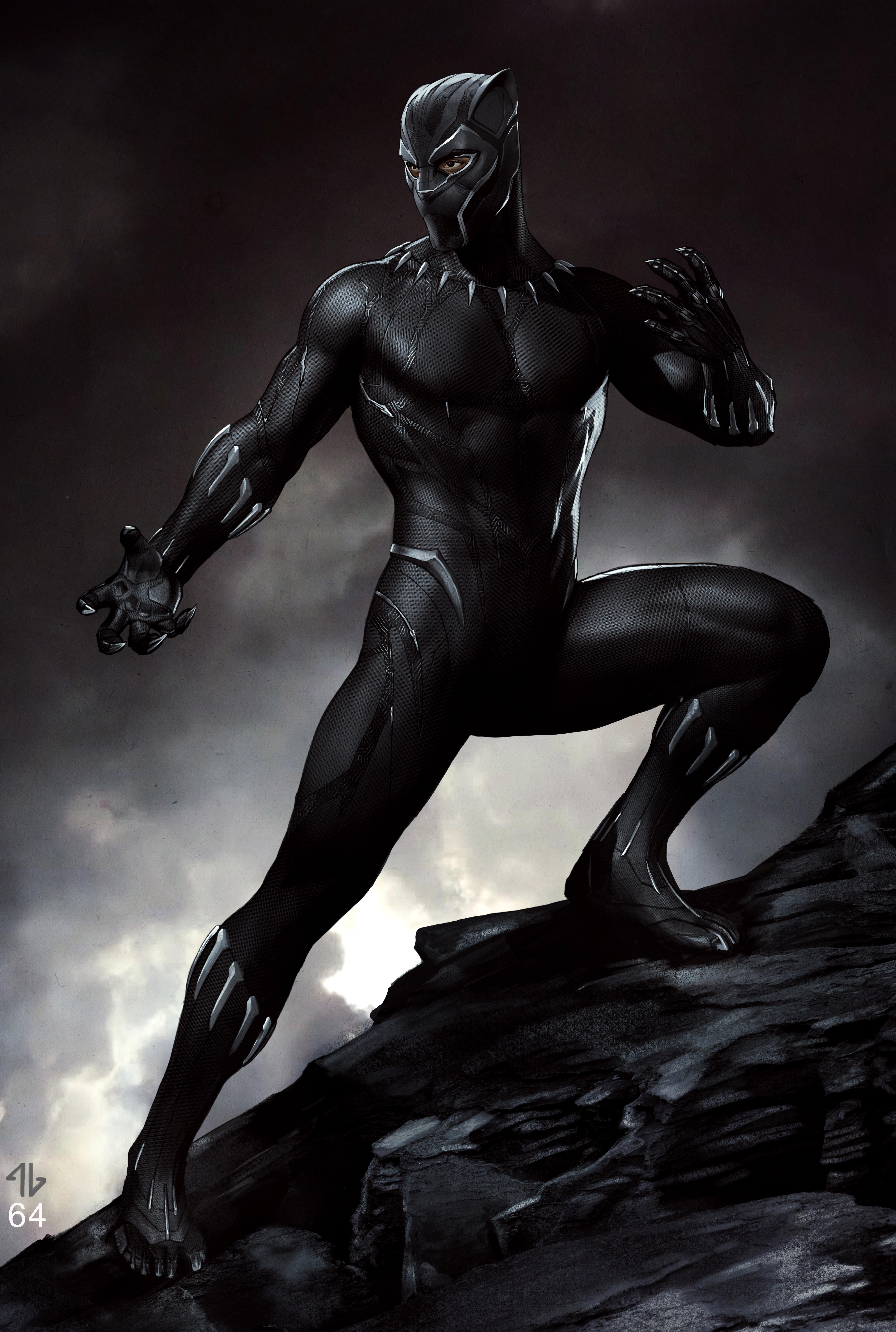Marvel Studios' BLACK PANTHER                                                              Black Panther Conceptual Character and Costume Design Sketch                                                              Costume Design and Art: Ryan Meinderding and VisDev Team                                                              ©Marvel Studios 2018