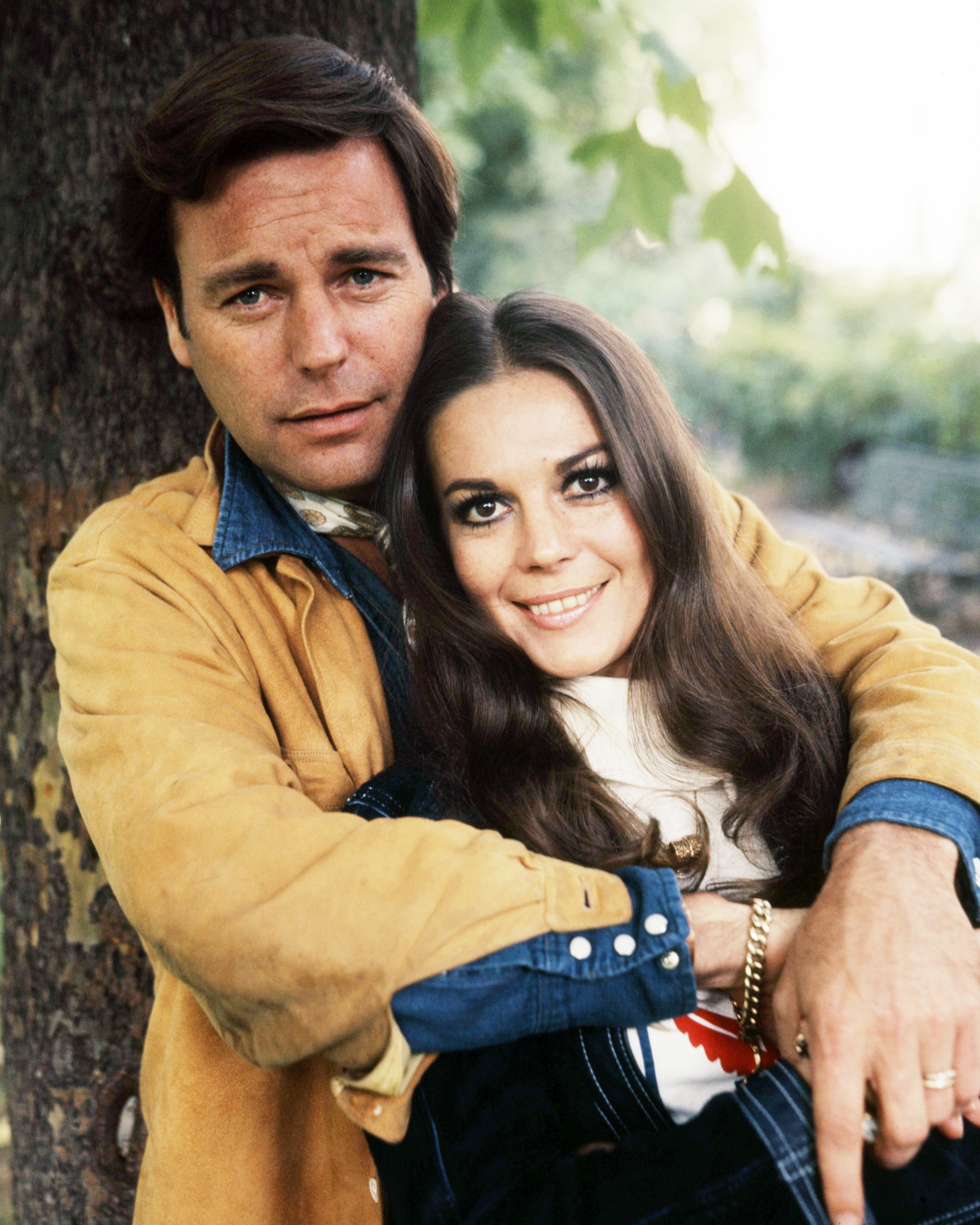 American actors Robert Wagner and his wife Natalie Wood (1938 - 1981), circa 1970.