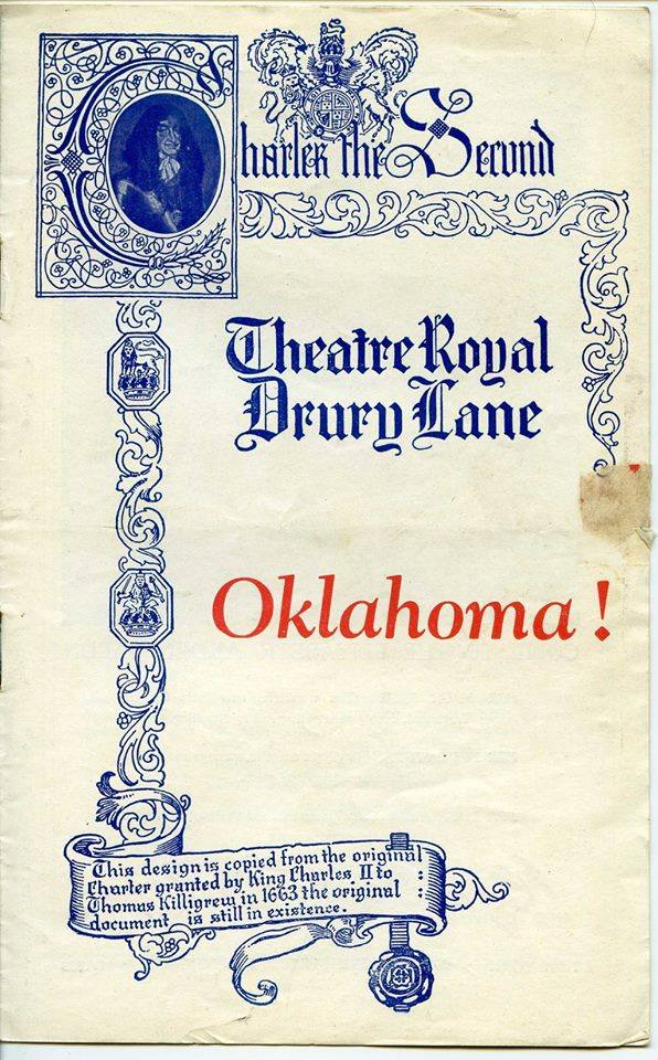 1947 playbill for the West End run of Oklahoma!