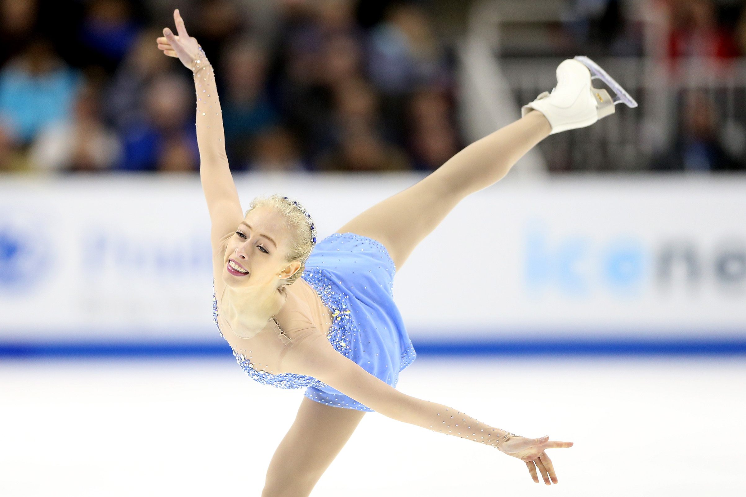 Olympic athlete Bradie Tennell competes in the Ladies Free Skate during the 2018 Prudential U.S. Figure Skating Championships at the SAP Center in San Jose, Calif. on January 5, 2018. Matthew Stockman—Getty Images